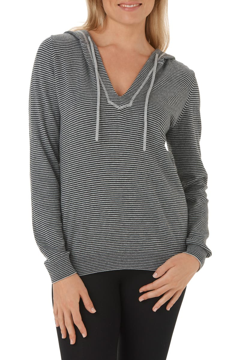 The White Company Stripe Cotton & Cashmere Hoodie | Nordstrom