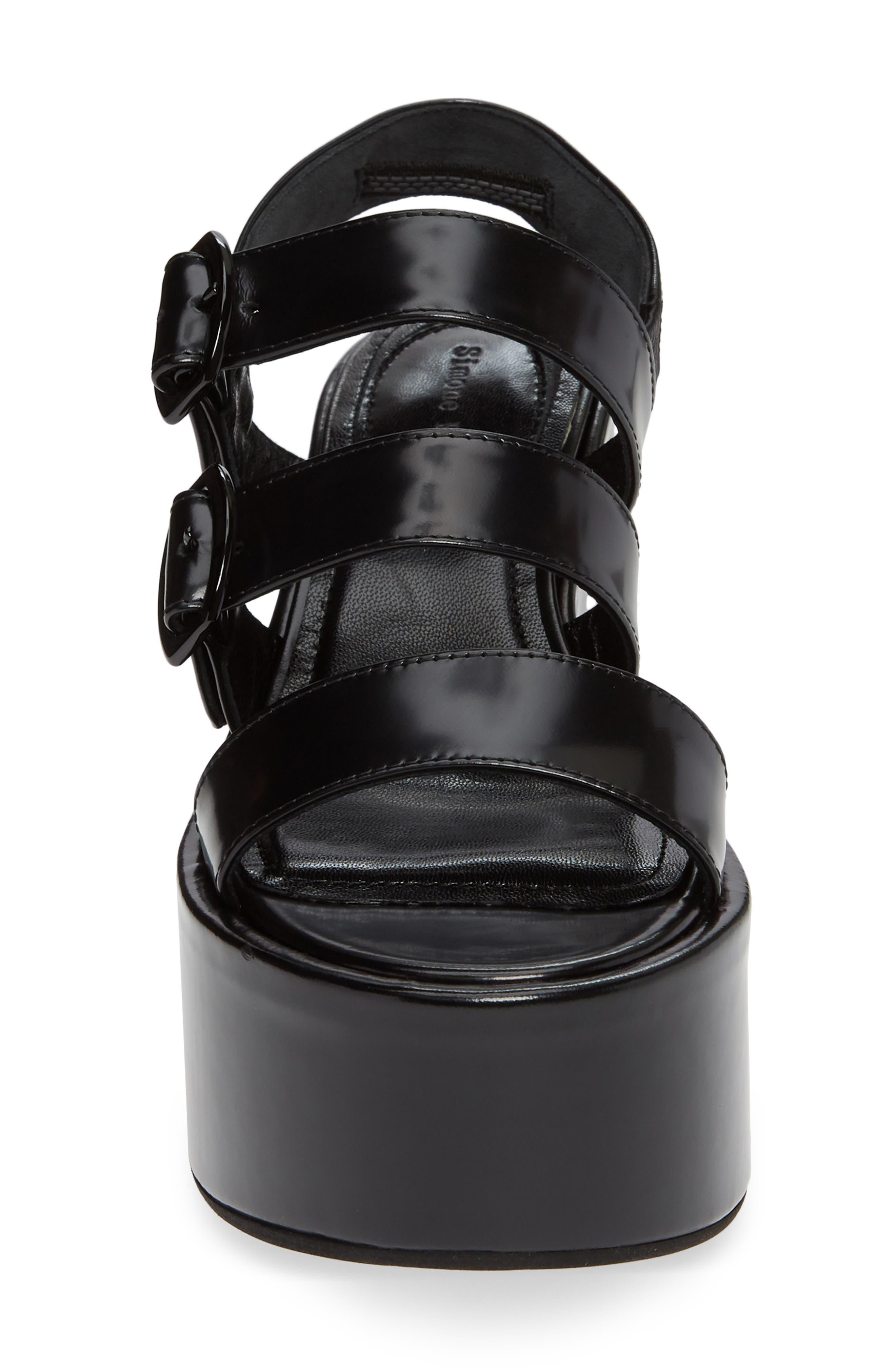 SIMONE ROCHA,                             Strappy Platform Sandal,                             Alternate thumbnail 4, color,                             001