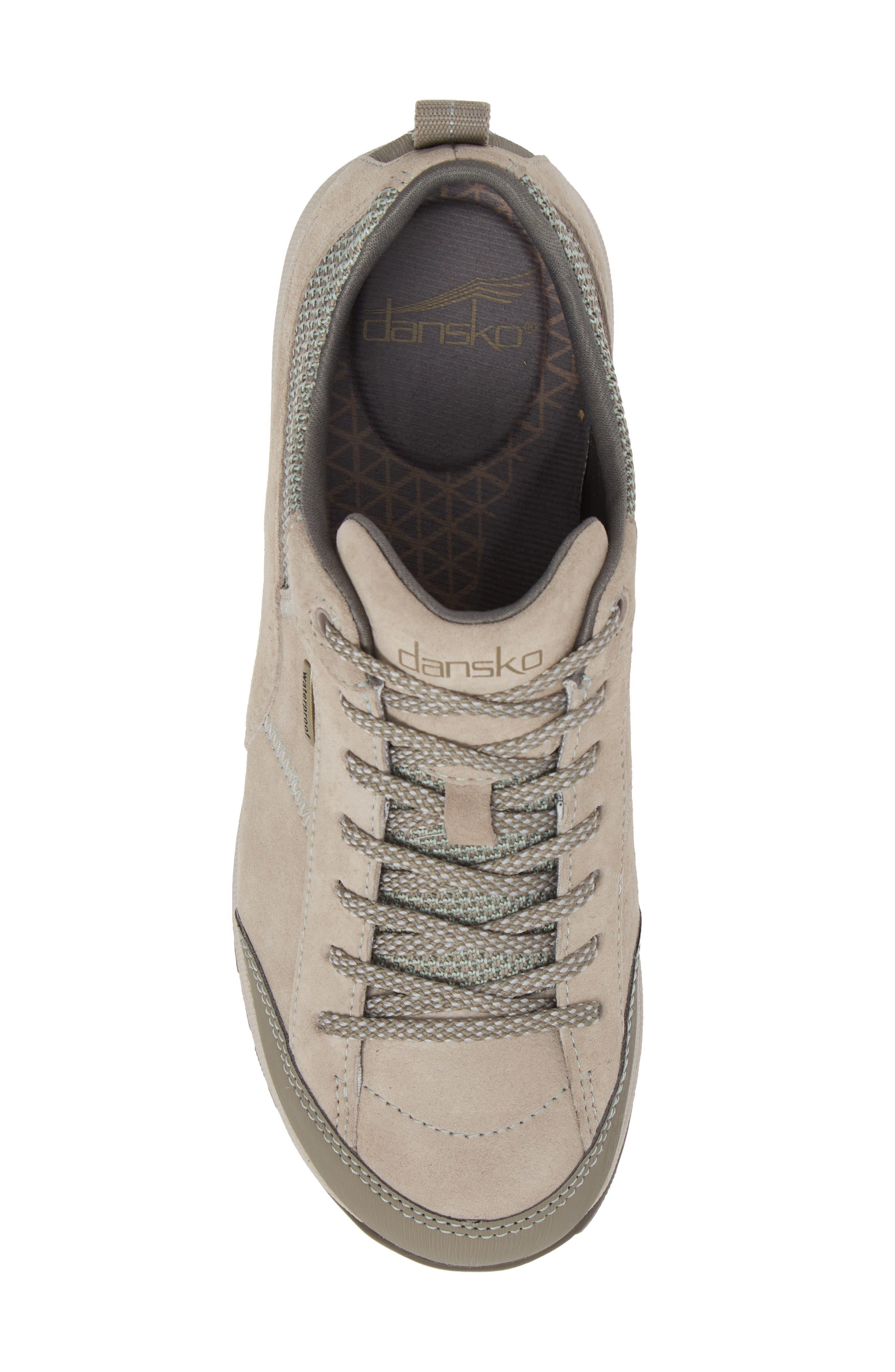 Paisley Waterproof Sneaker,                             Alternate thumbnail 5, color,                             STONE SUEDE