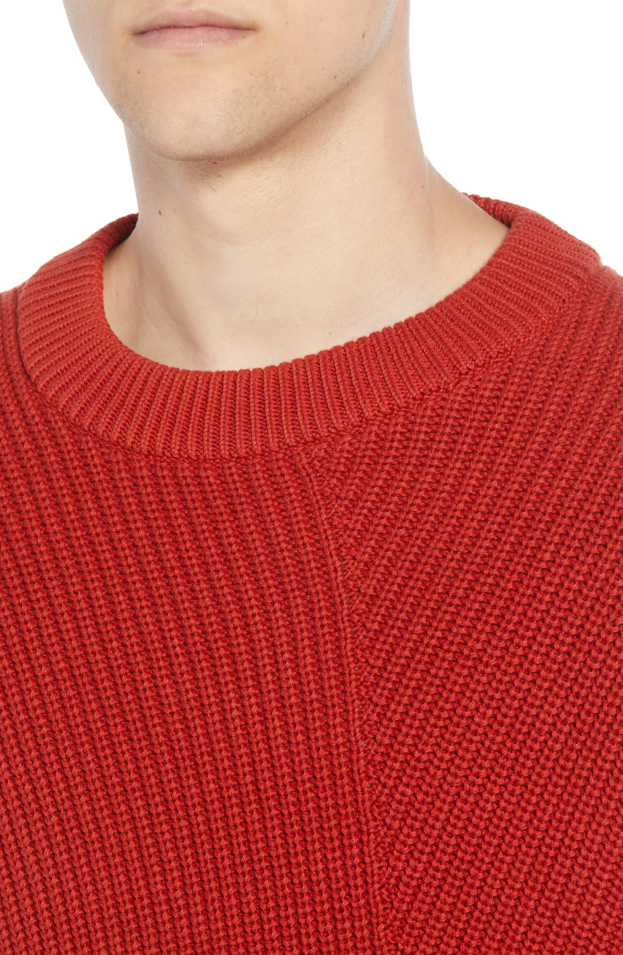 Asymmetrical Colorblock Sweater,                             Alternate thumbnail 4, color,                             ROOIBOS TEA