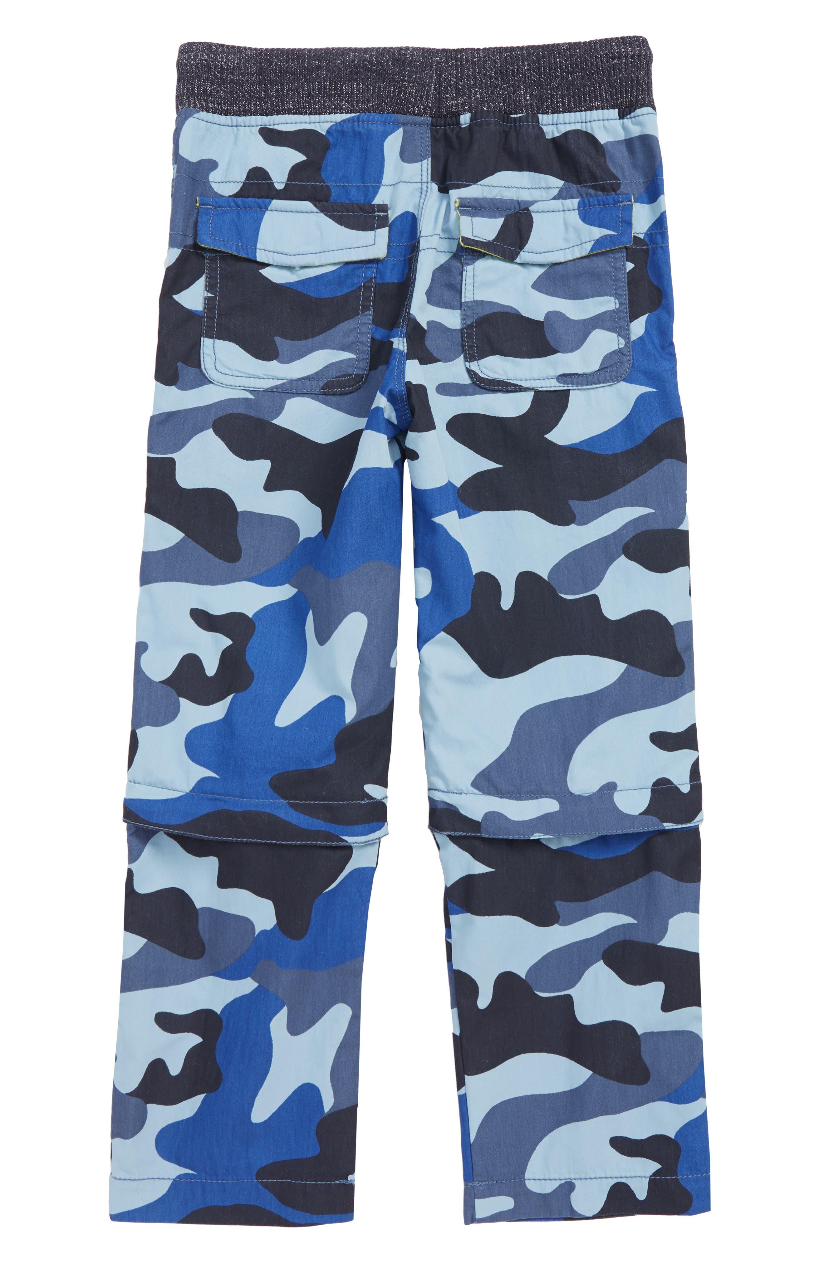 Techno Convertible Zip Off Pants,                             Alternate thumbnail 2, color,                             COLLEGE BLUE CAMO