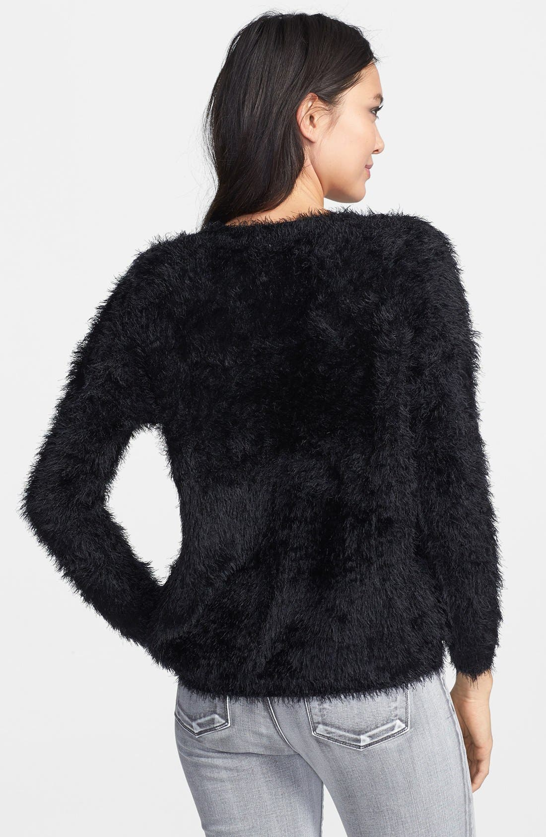 Textured Pullover,                             Alternate thumbnail 3, color,                             001
