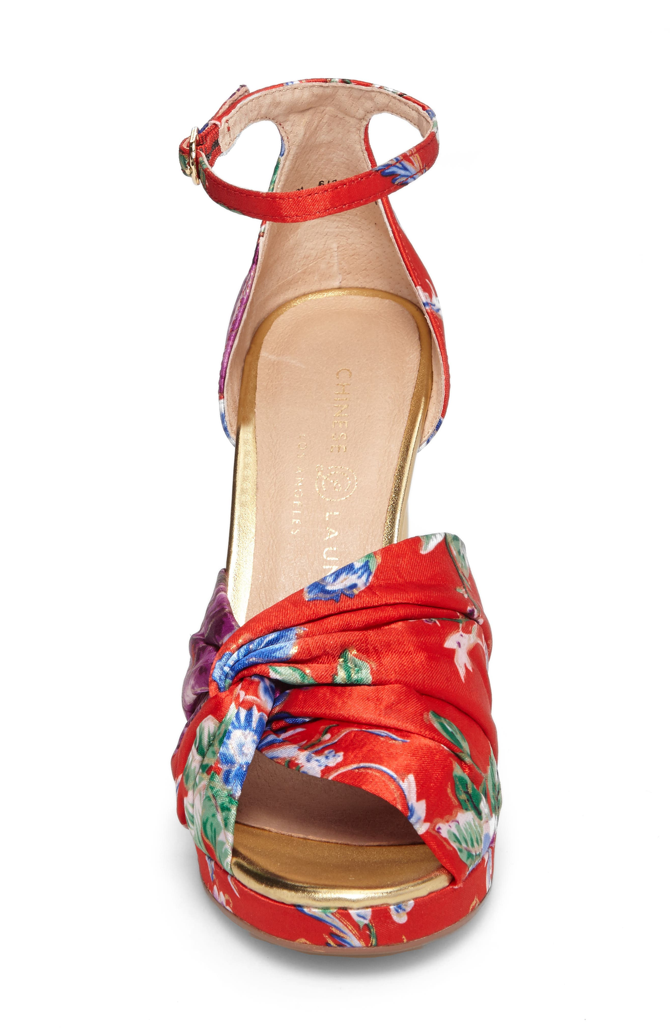 Flory Knotted Sandal,                             Alternate thumbnail 8, color,