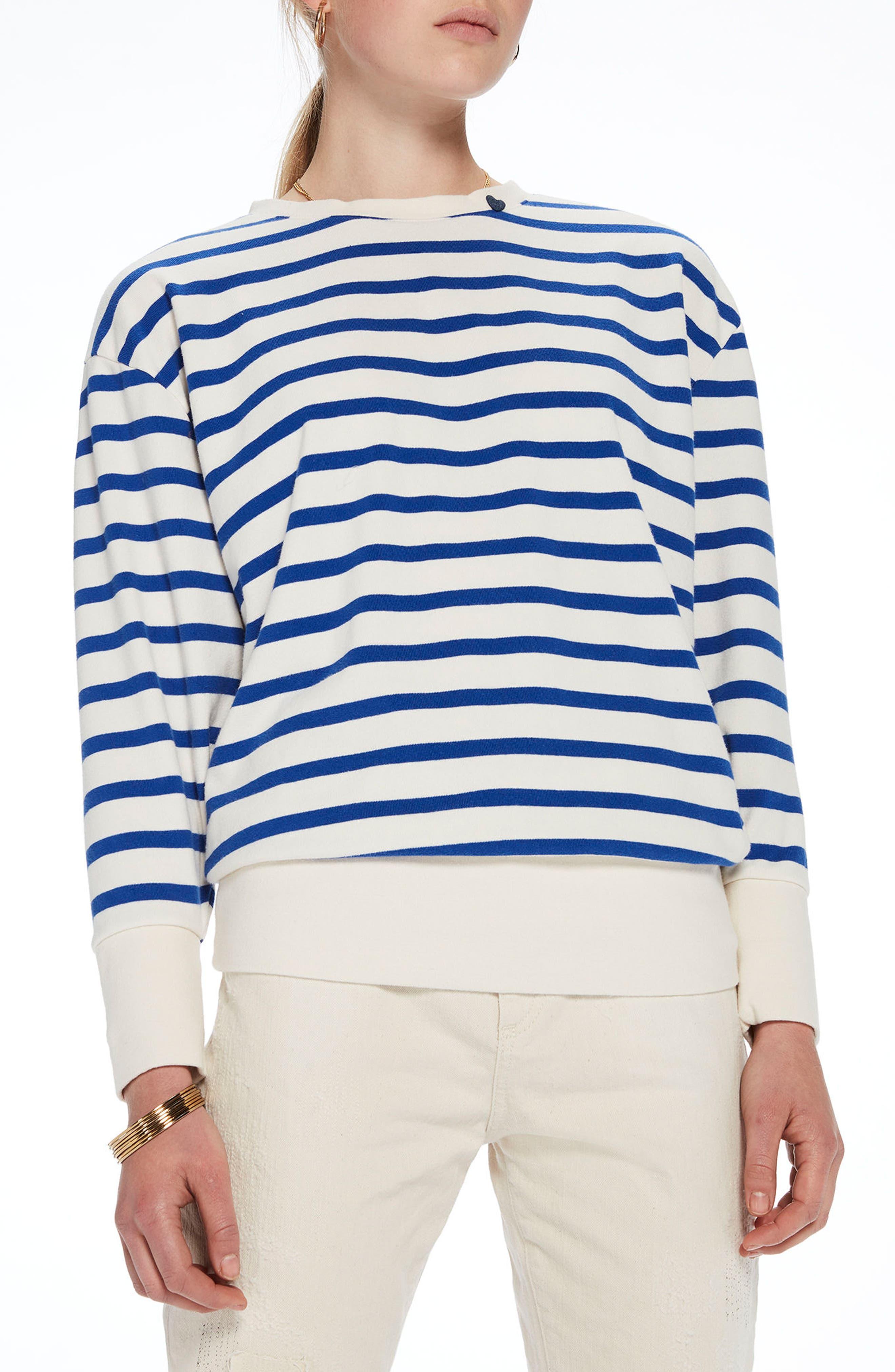 Scotch & Soda Laced Back Sweatshirt, Blue
