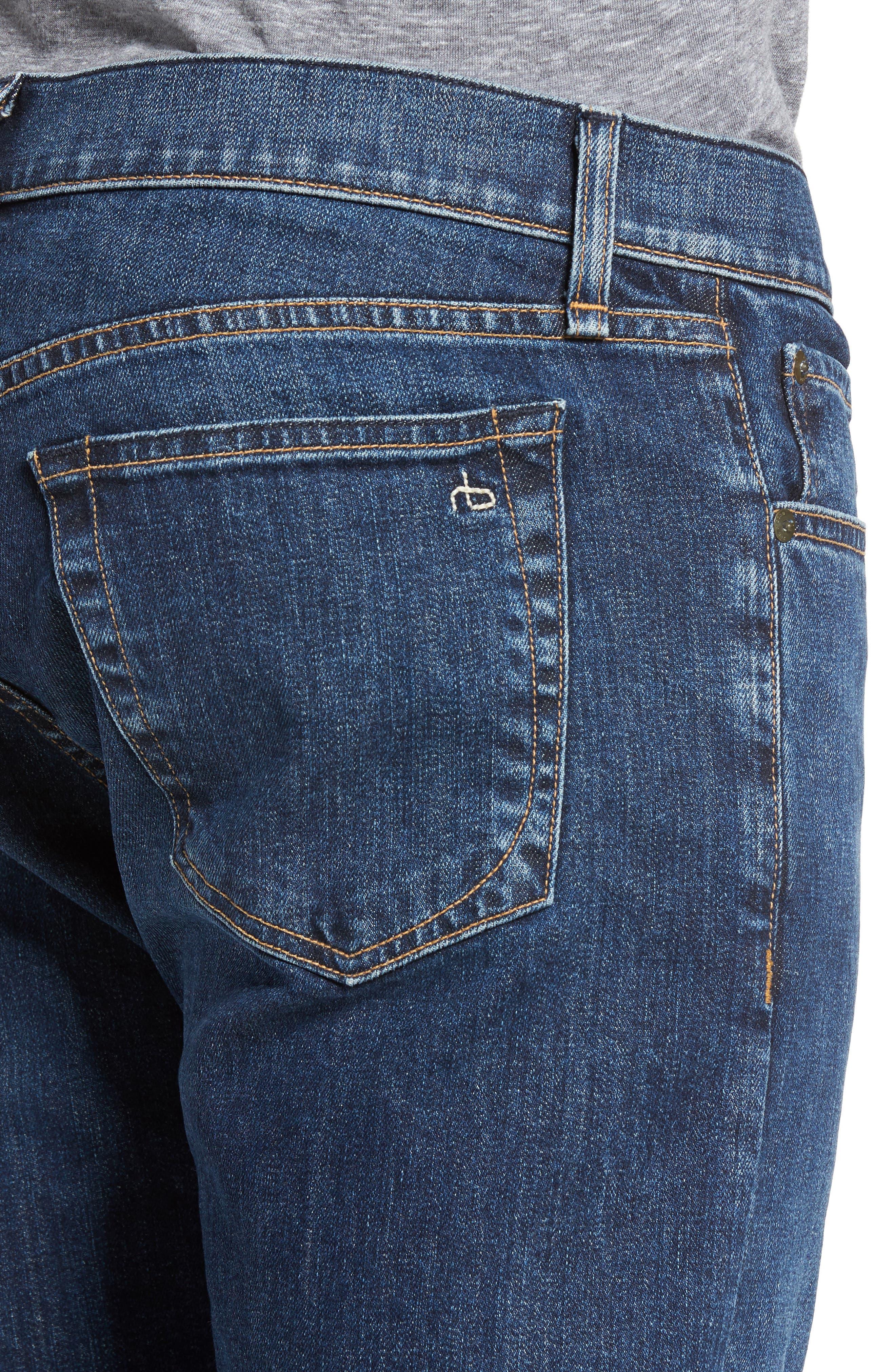 Fit 3 Slim Straight Leg Jeans,                             Alternate thumbnail 4, color,                             423