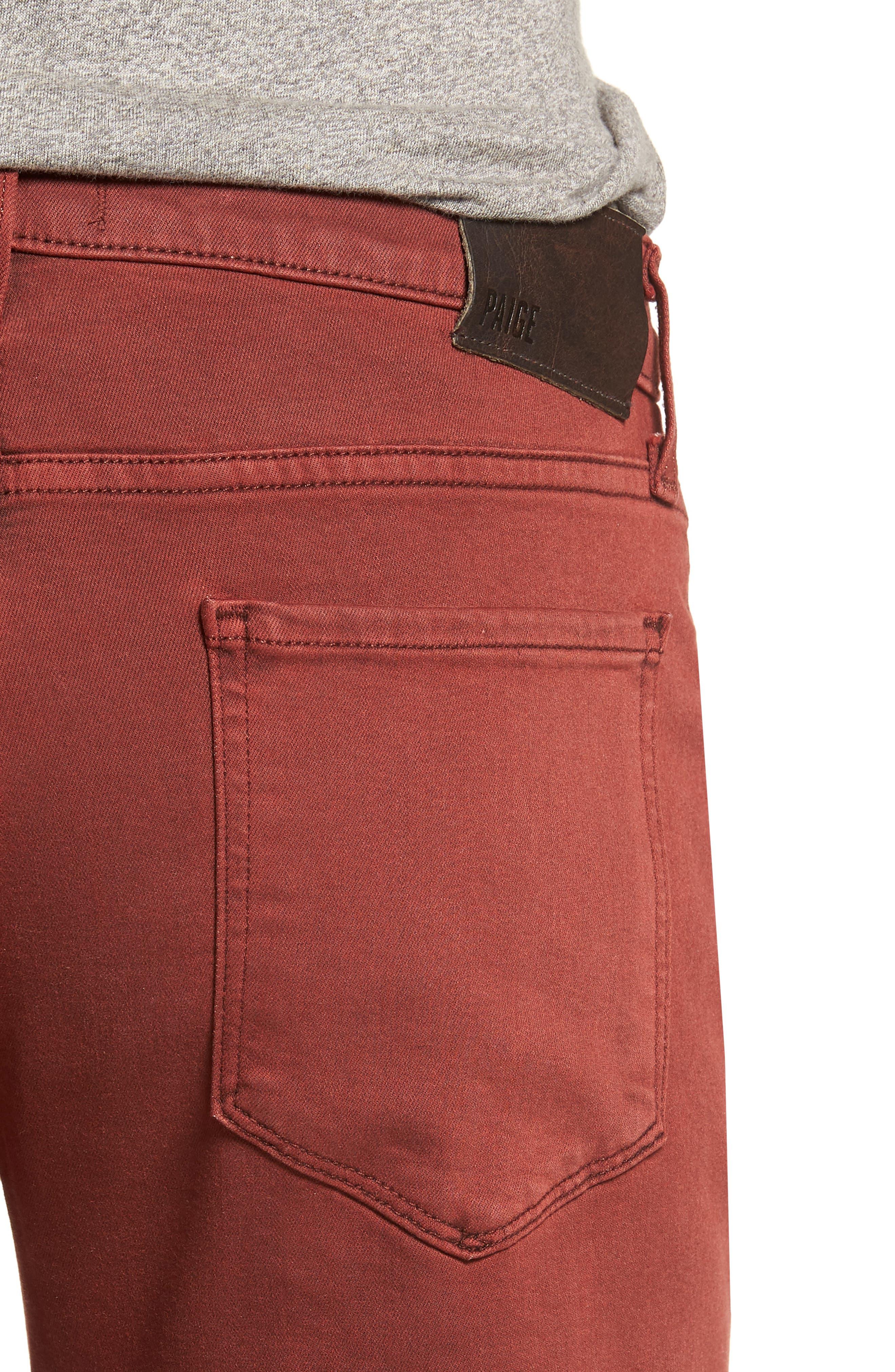 Transcend - Federal Slim Straight Leg Jeans,                             Alternate thumbnail 4, color,                             VINTAGE PERSIMMON