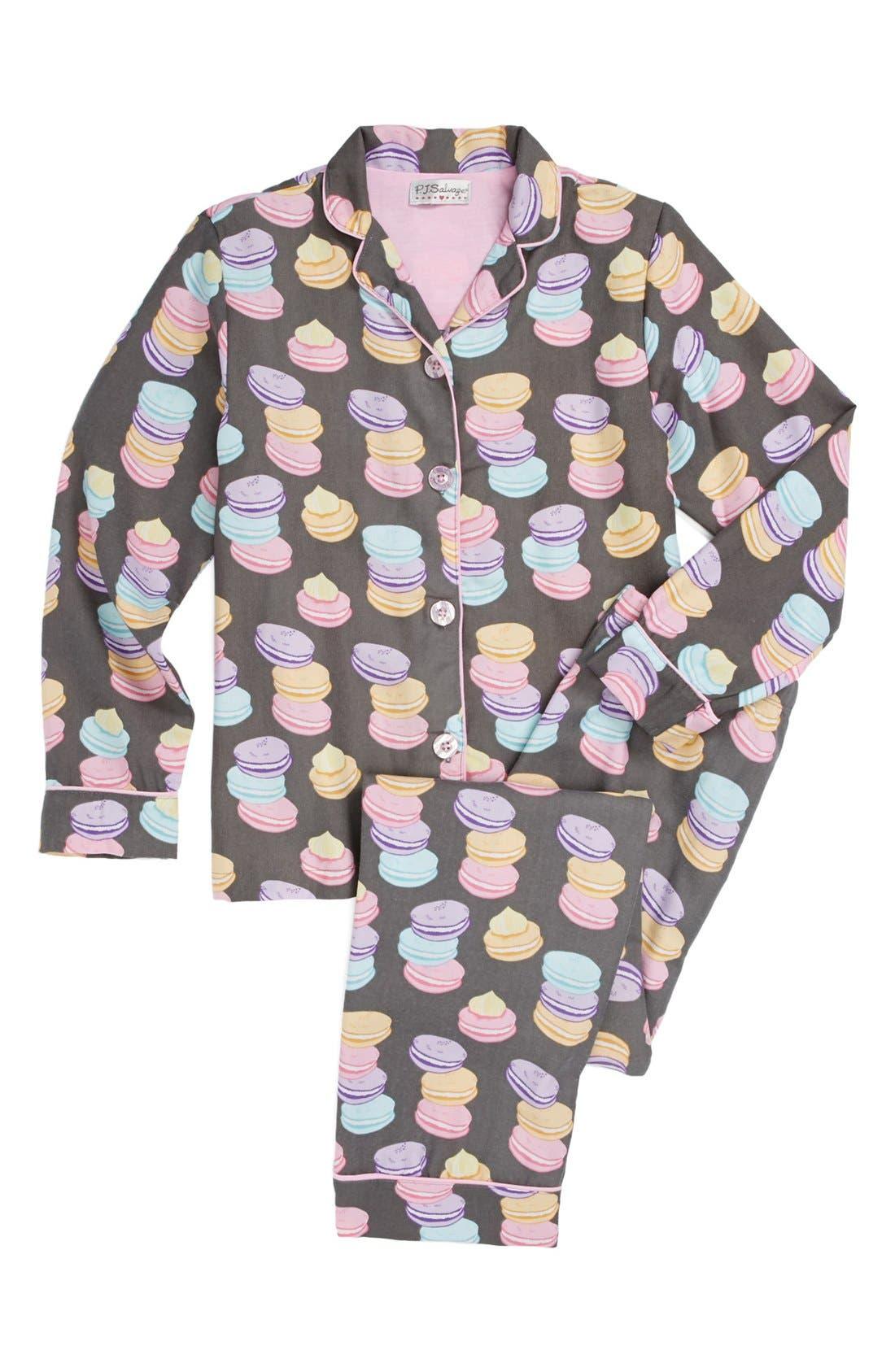 'Macaroon Madness' Two-Piece Pajamas,                             Main thumbnail 1, color,                             020