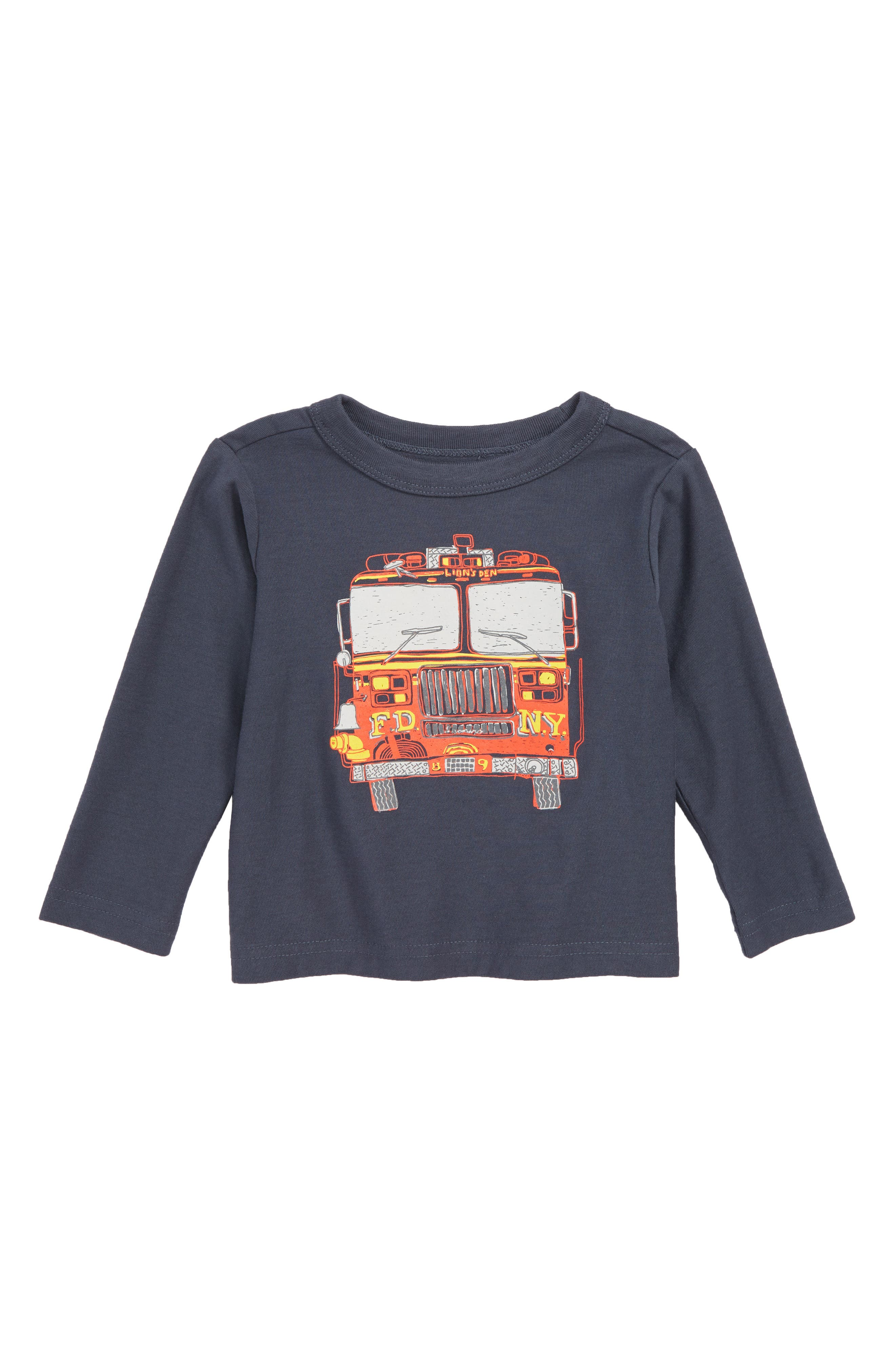 Fire Truck T-Shirt,                             Main thumbnail 1, color,                             INDIGO