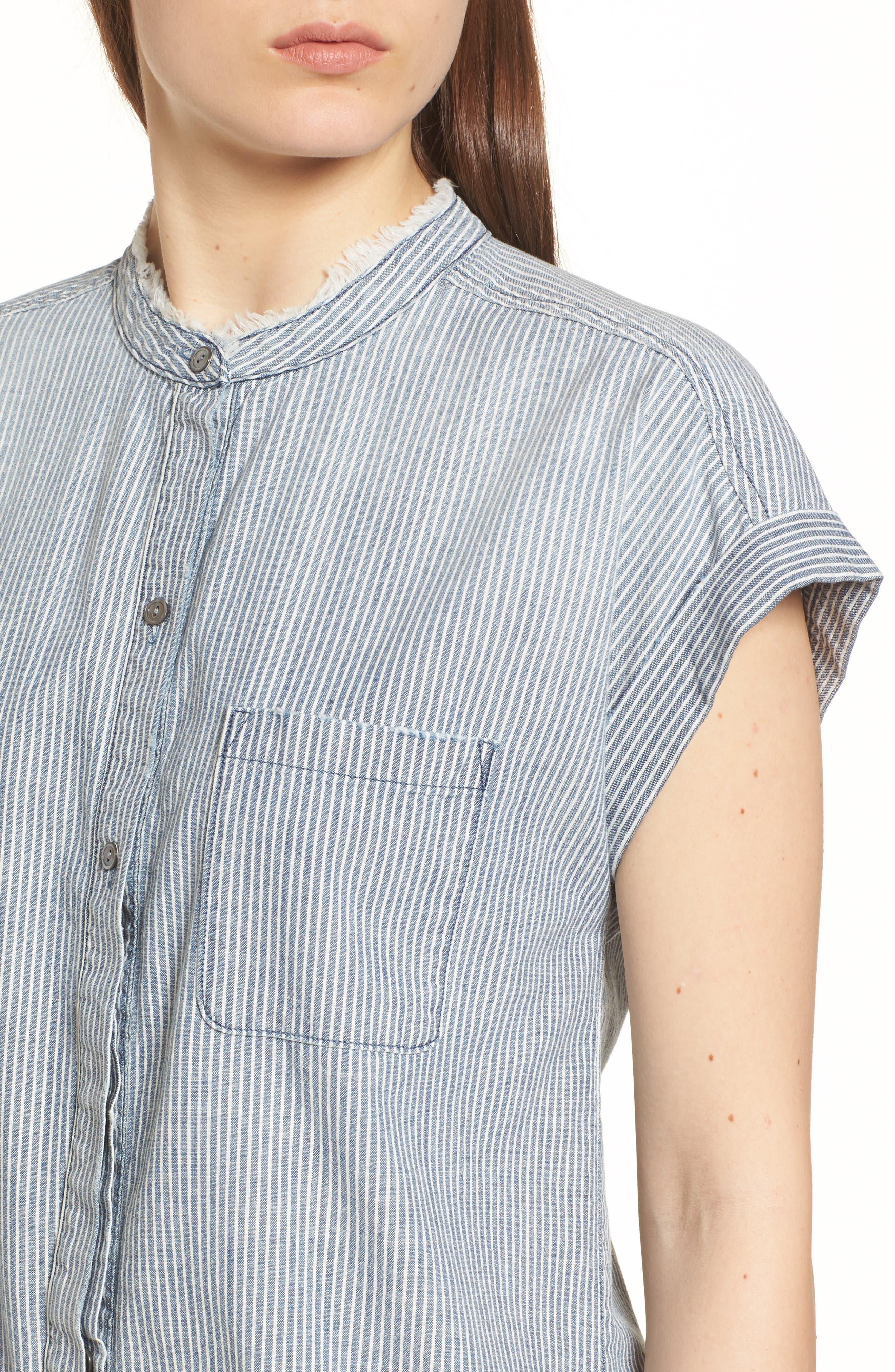 The Liza Engineer Stripe Shirt,                             Alternate thumbnail 4, color,                             LOFT