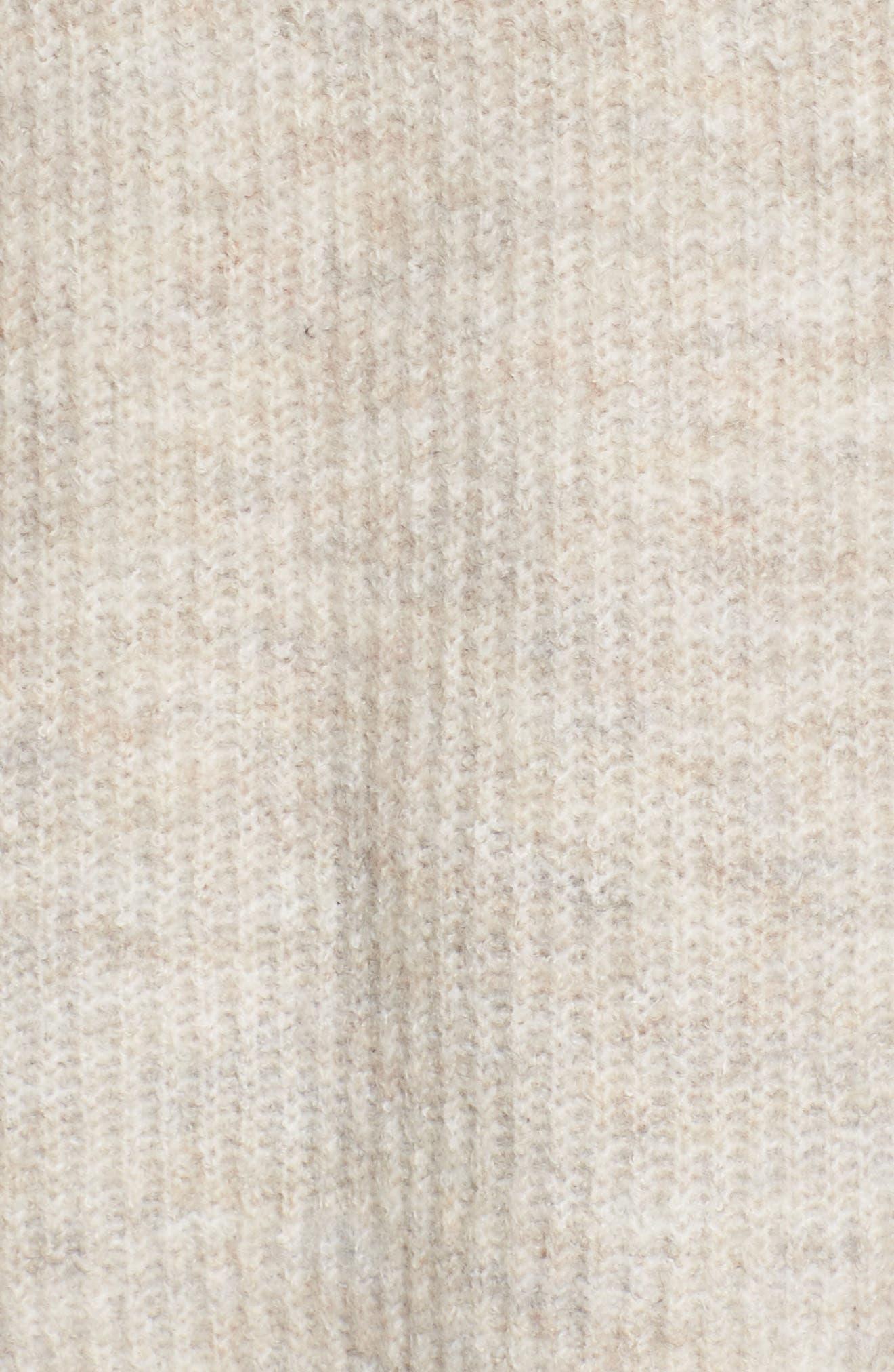 Ruffle Sleeve V-Neck Sweater,                             Alternate thumbnail 9, color,