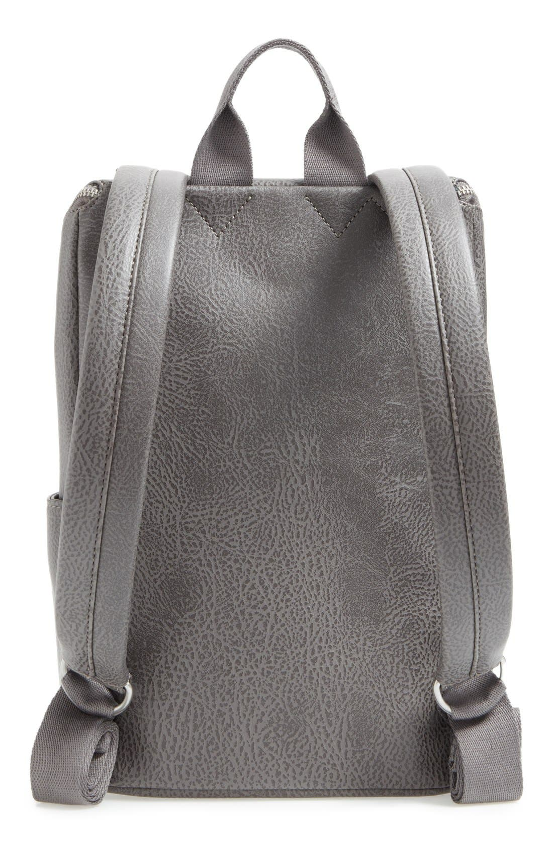 'Brave' Faux Leather Backpack,                             Alternate thumbnail 67, color,