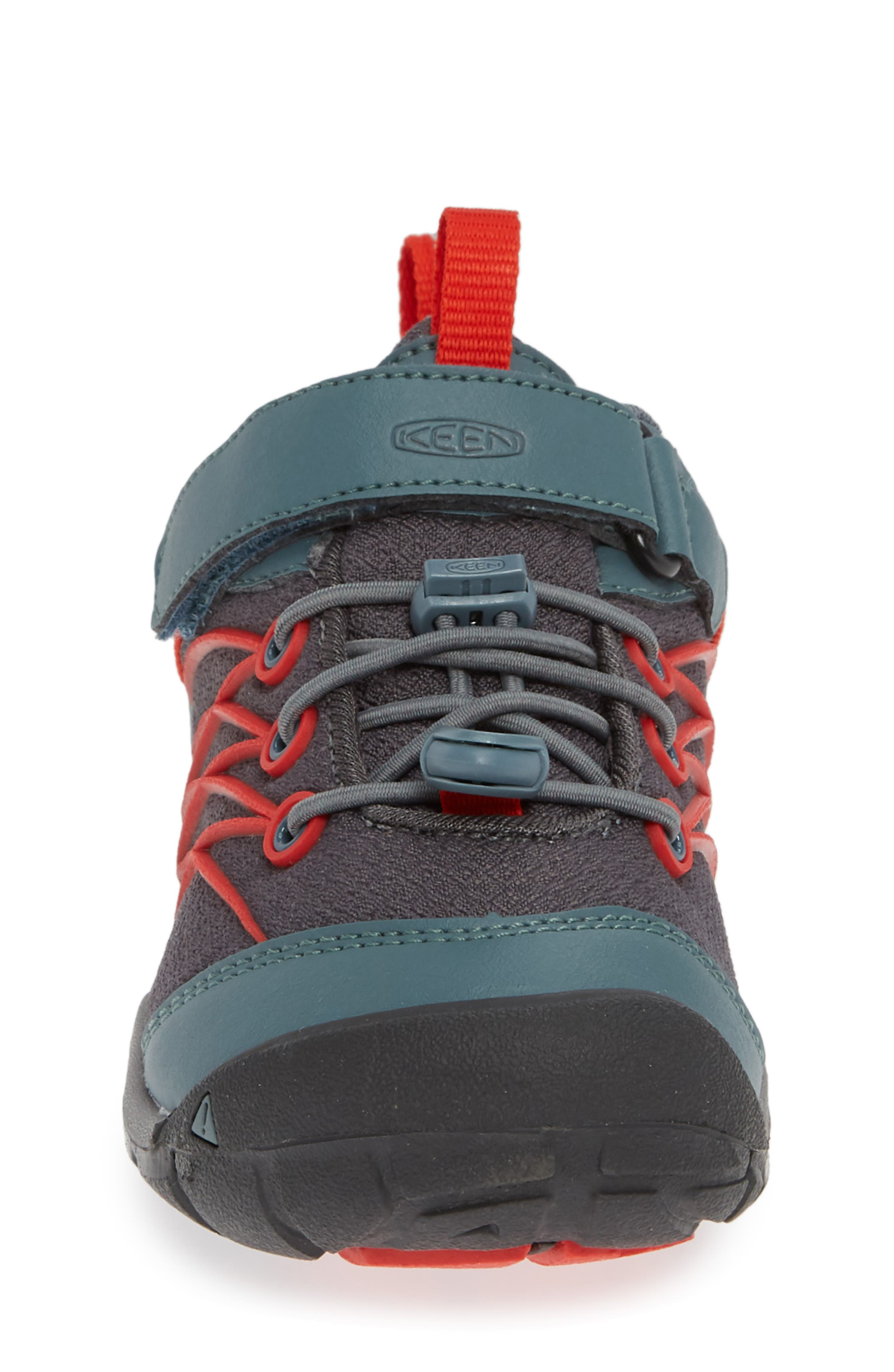 'Chandler CNX' Water Repellent Sneaker,                             Alternate thumbnail 4, color,                             STORMY WEATHER/ FIRE RED