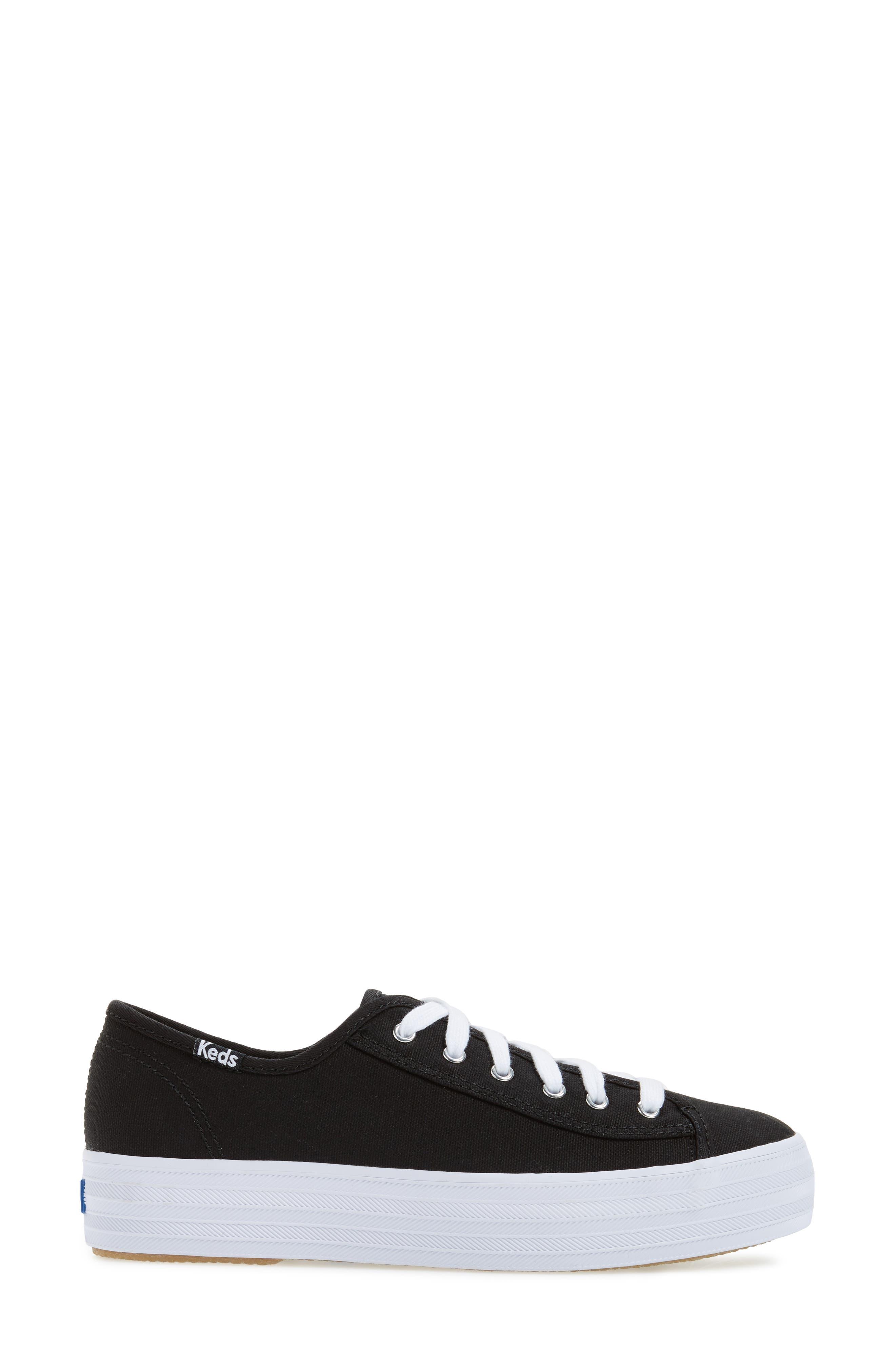 Triple Kick Platform Sneaker,                             Alternate thumbnail 3, color,                             002