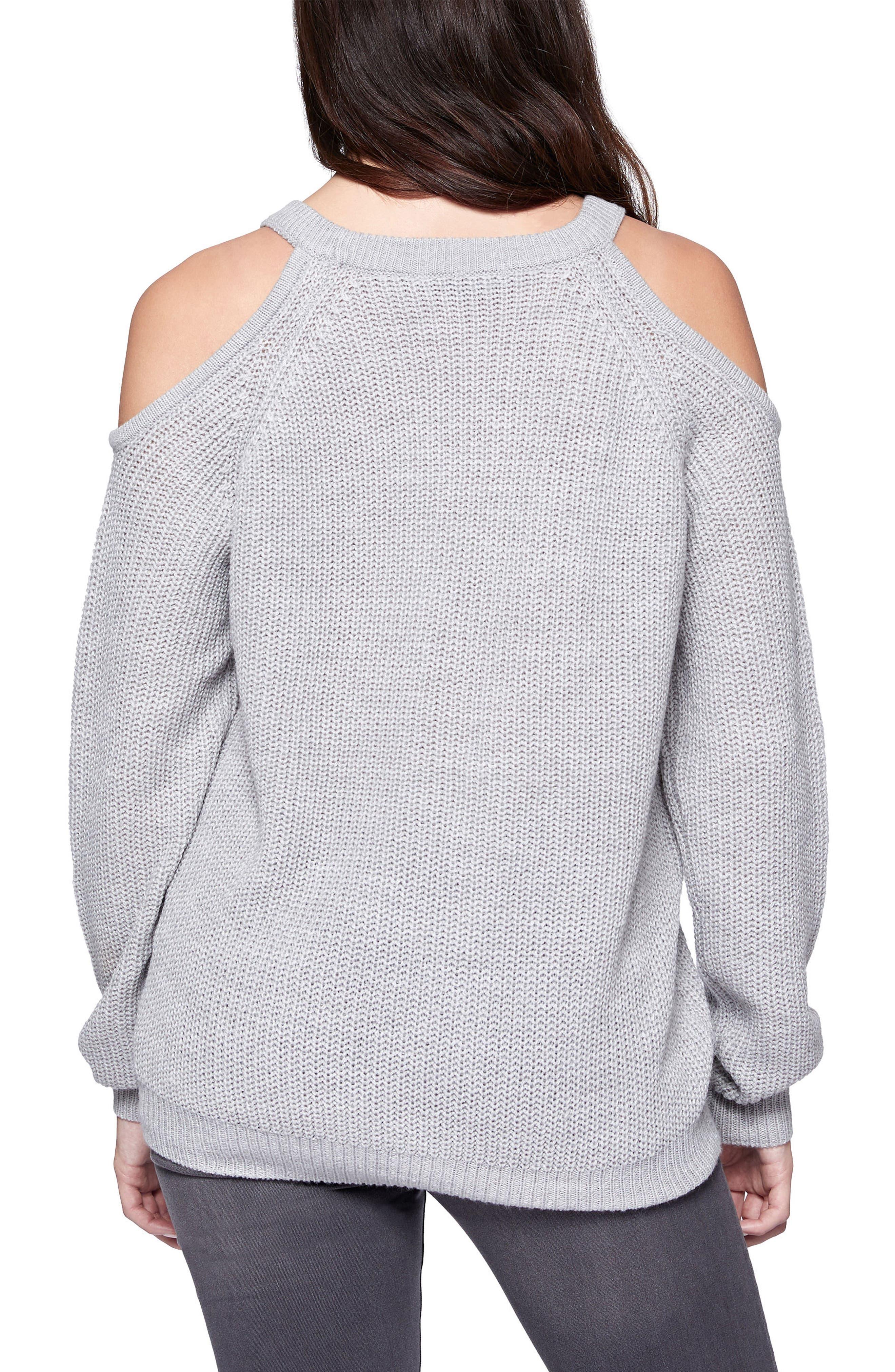 Riley Cold Shoulder Sweater,                             Alternate thumbnail 13, color,