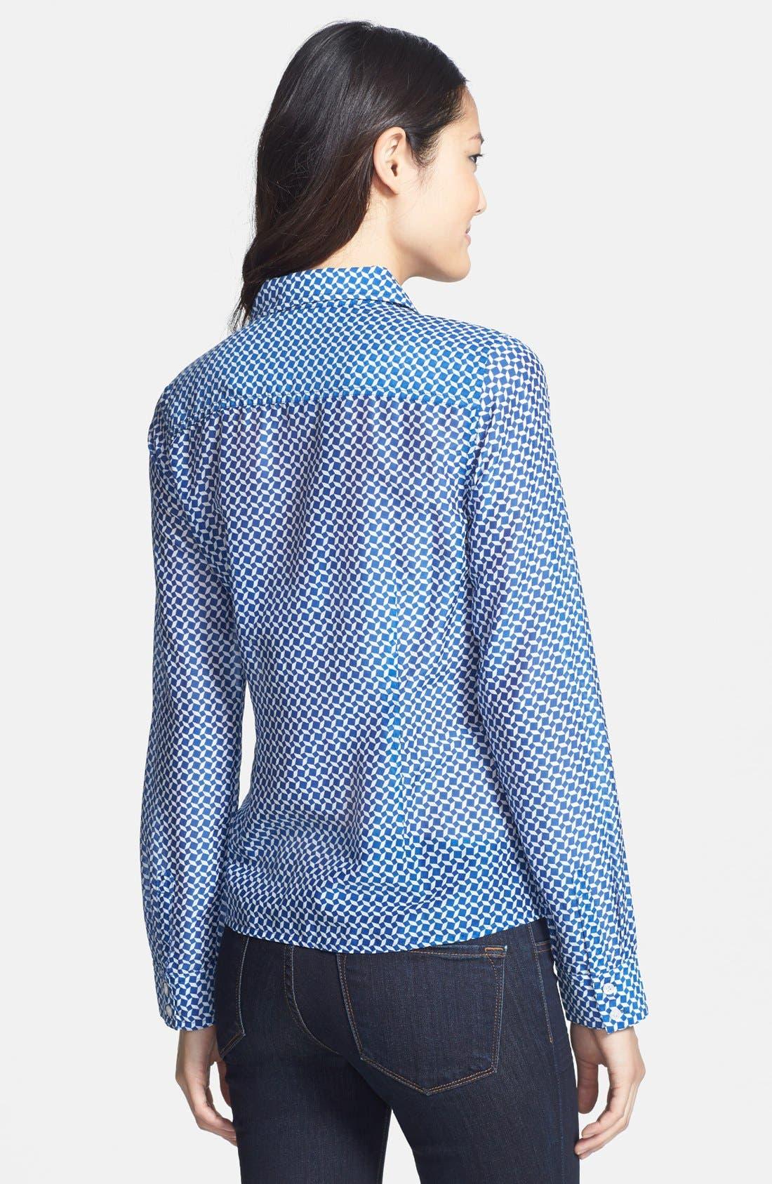 Cotton & Silk Shirt,                             Alternate thumbnail 117, color,