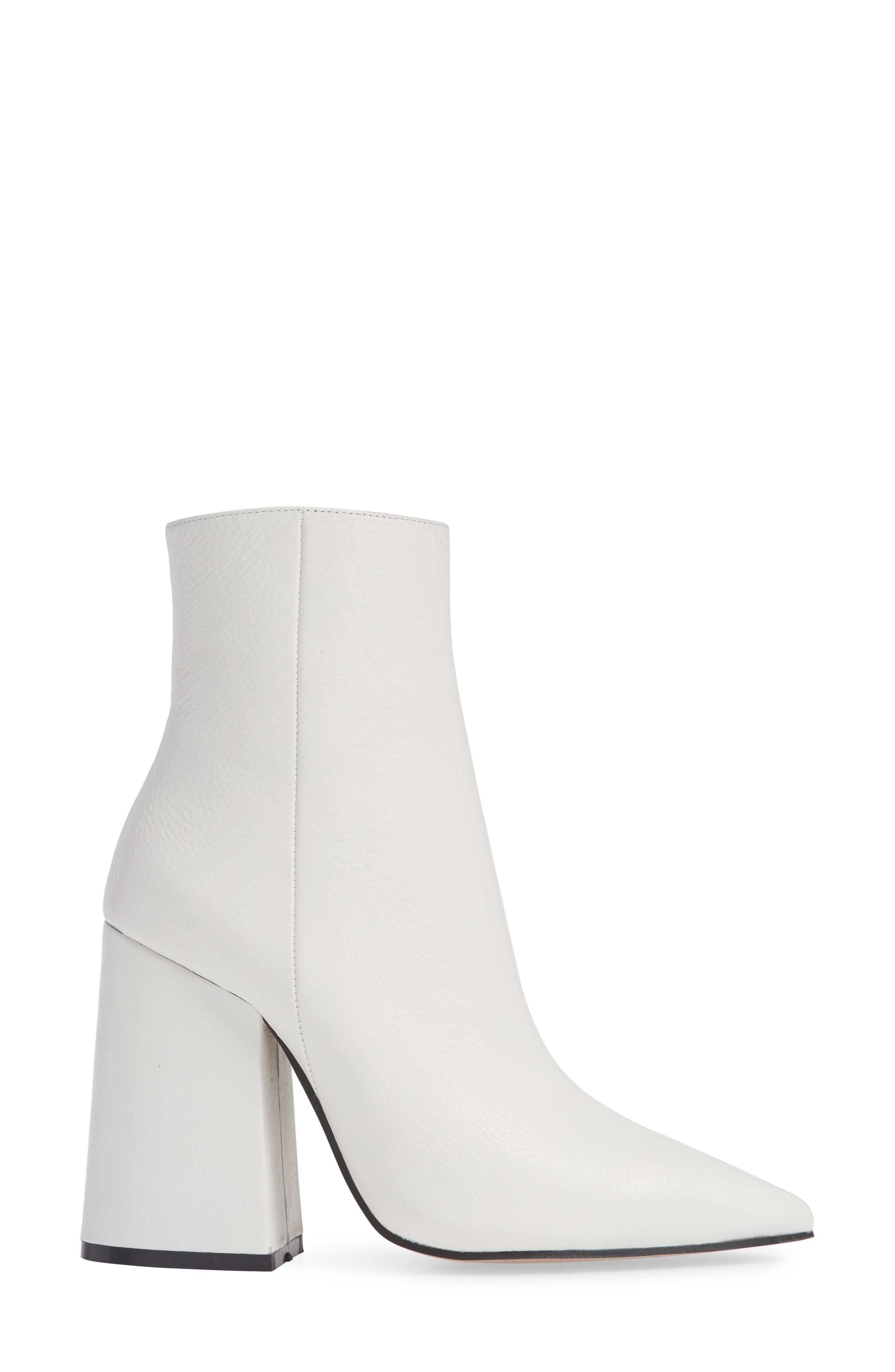Ahara Bootie,                             Alternate thumbnail 3, color,                             WHITE LEATHER
