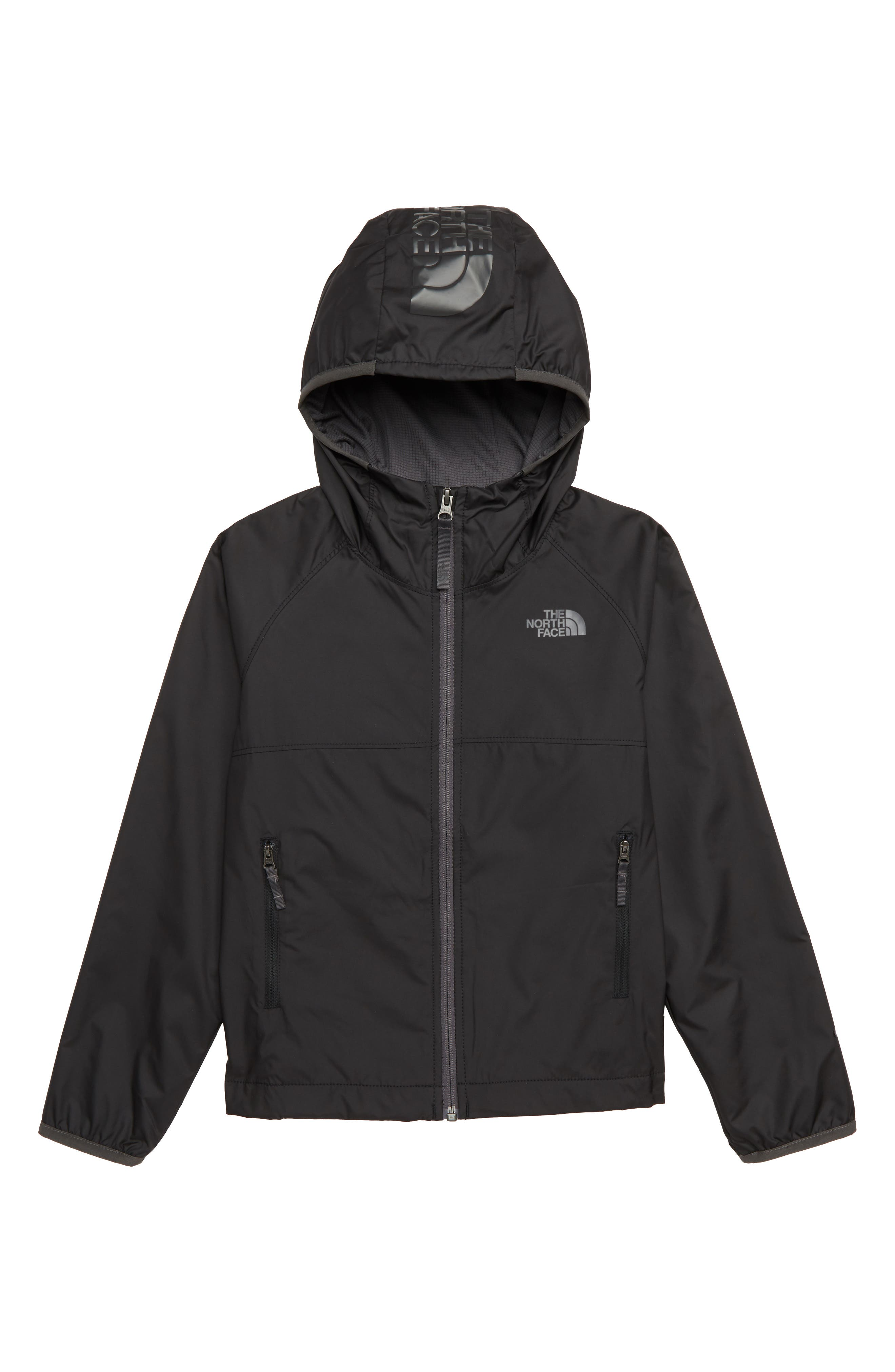 Windy Crest Water Repellent Jacket, Main, color, BLACK