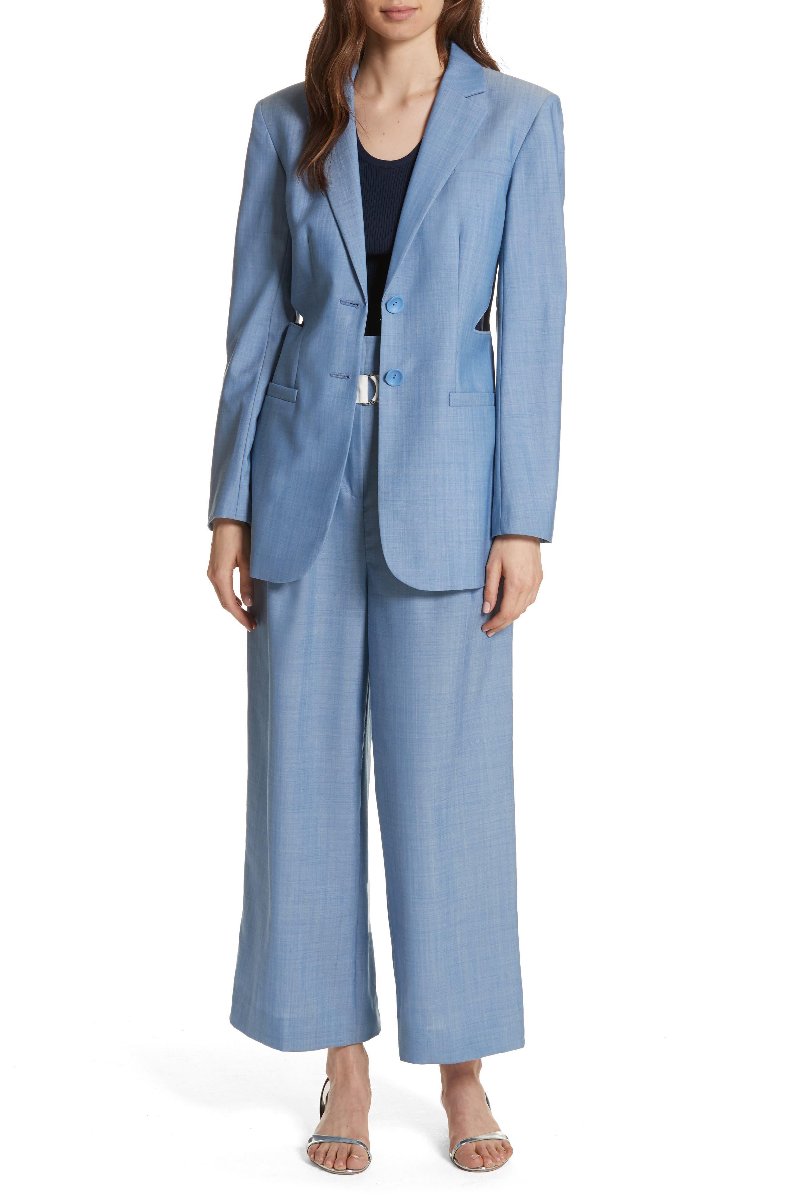 Belted Wide Leg Crop Pants,                             Alternate thumbnail 7, color,