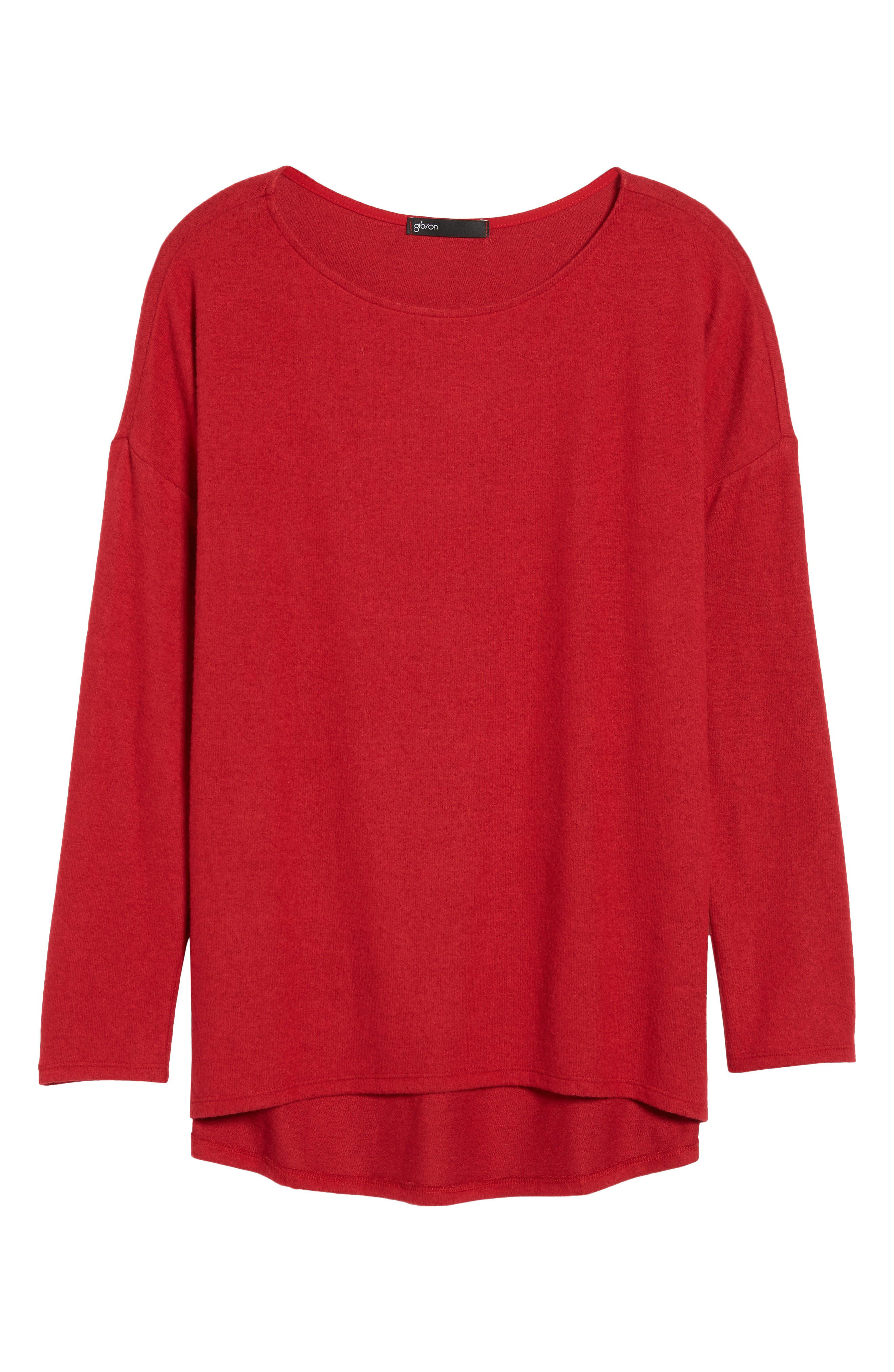 Cozy Ballet Neck High/Low Pullover,                             Alternate thumbnail 91, color,