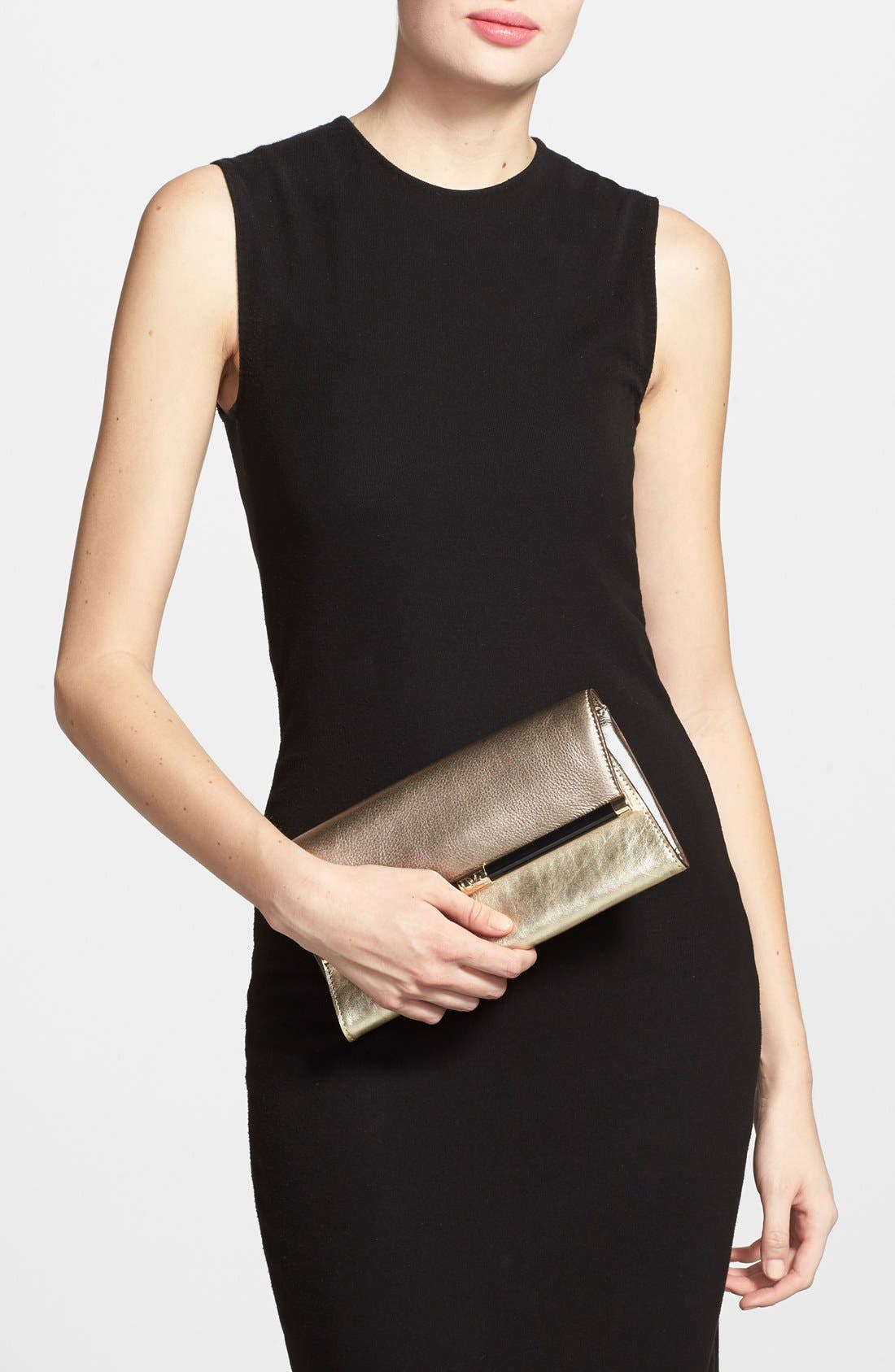 '440 - Mixed Metallic' Envelope Clutch,                             Alternate thumbnail 4, color,                             710