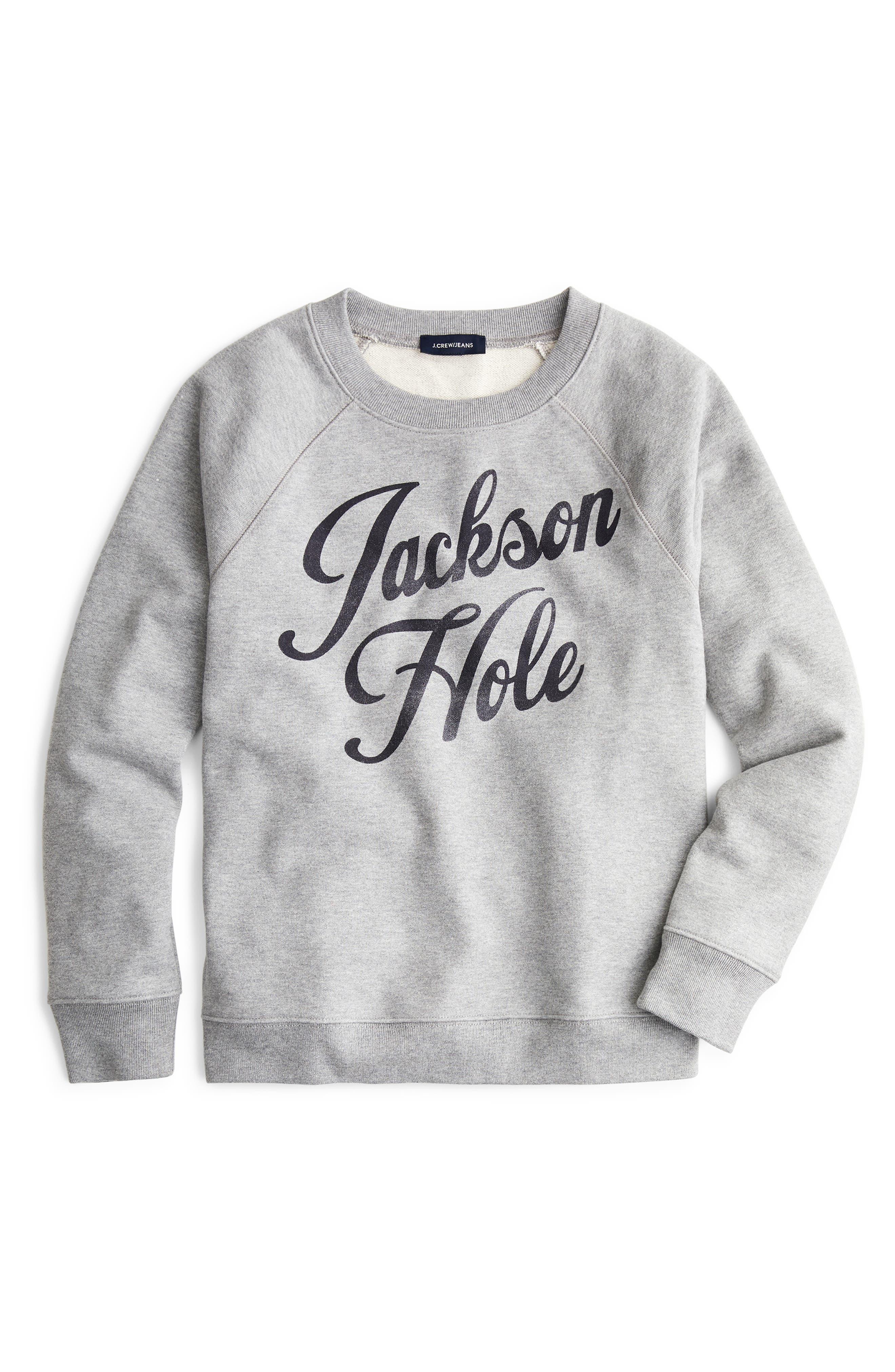 Jackson Hole Sweatshirt,                             Main thumbnail 1, color,                             HTHR. SILVER
