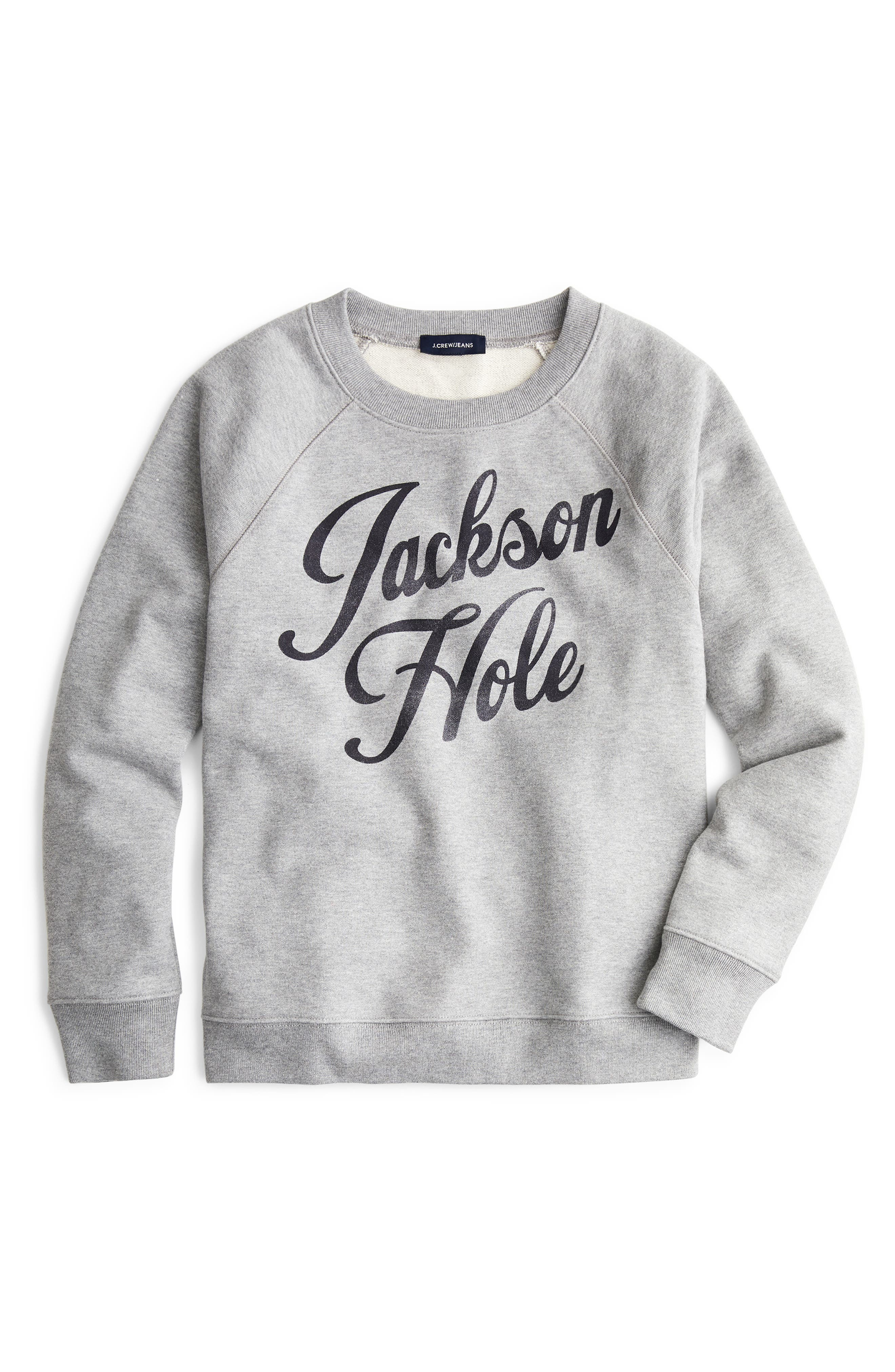 Jackson Hole Sweatshirt,                         Main,                         color, HTHR. SILVER