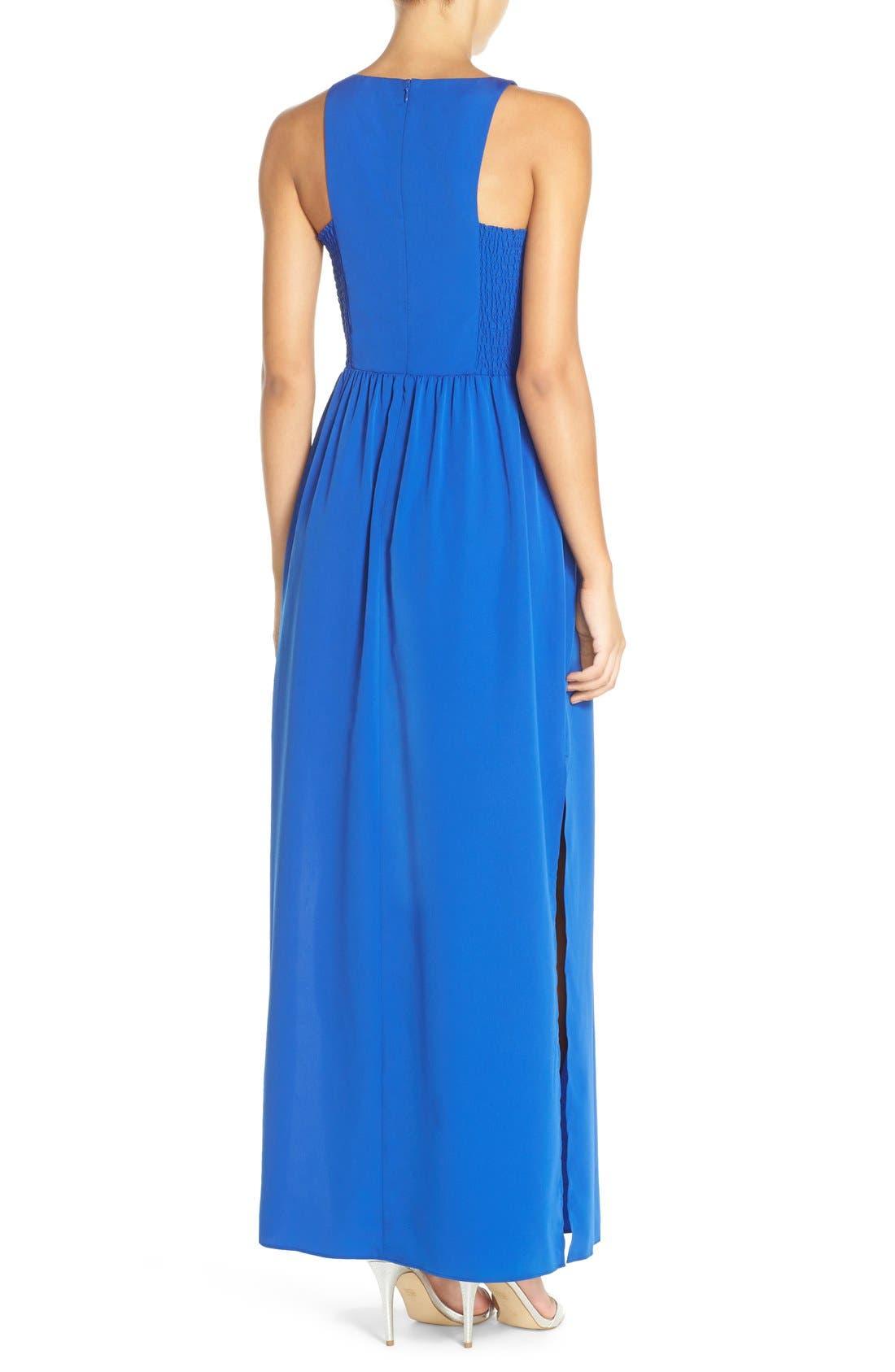 Cutaway Shoulder Maxi Dress,                             Alternate thumbnail 6, color,                             401