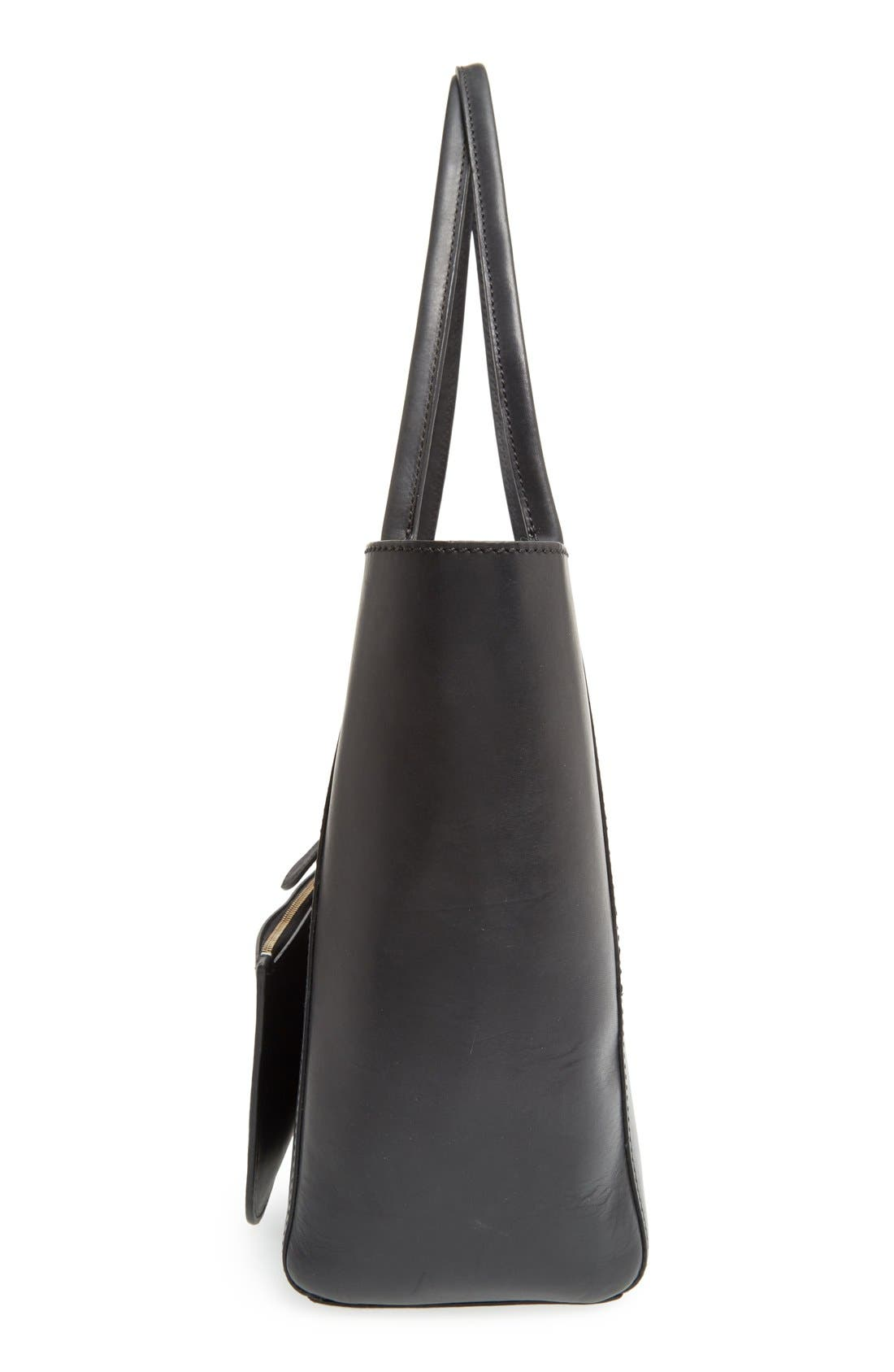 FRYE,                             'Casey' Leather Tote,                             Alternate thumbnail 5, color,                             001