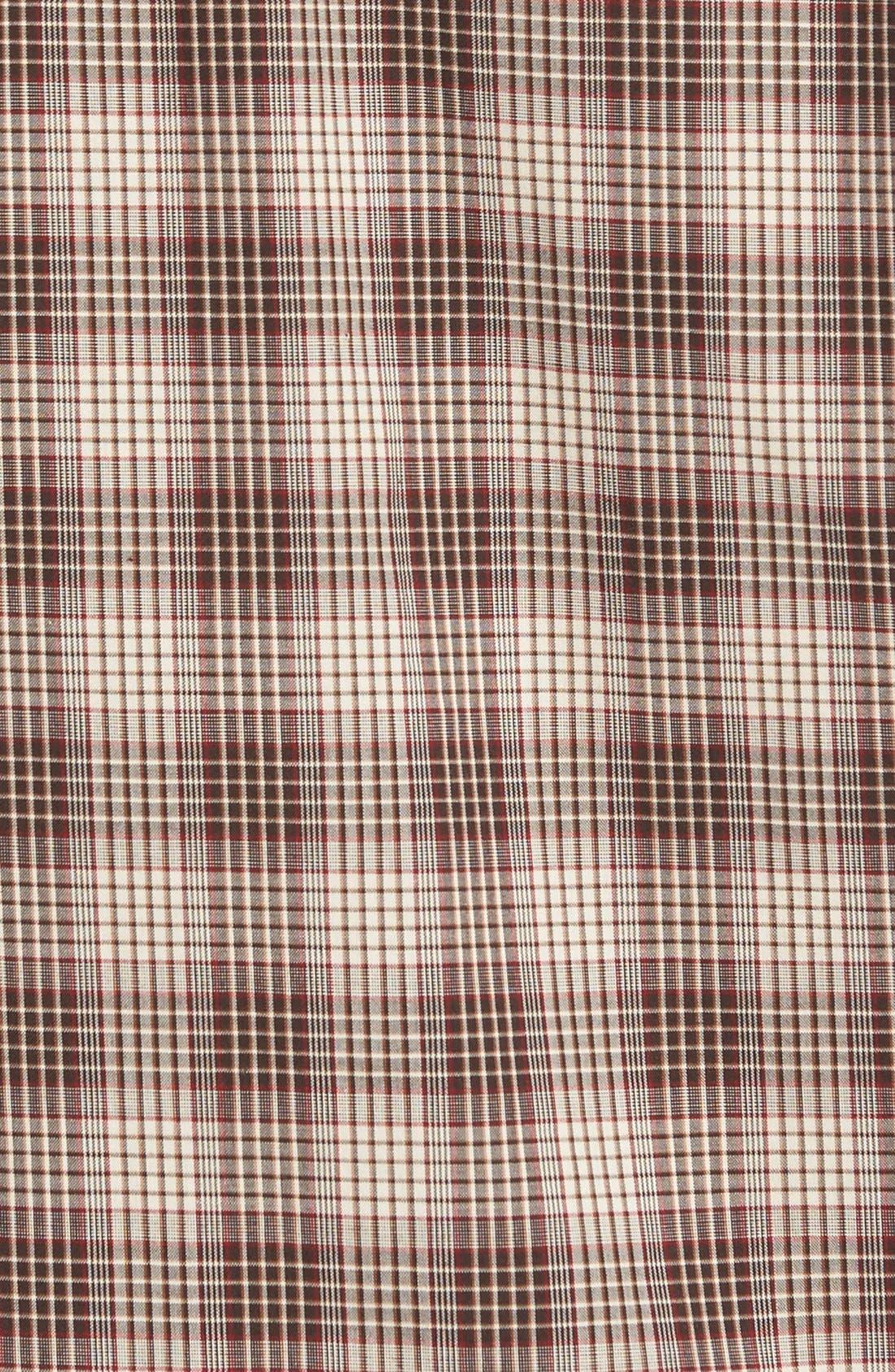 'Ridge' Plaid Cotton Poplin Sport Shirt,                             Alternate thumbnail 3, color,                             200