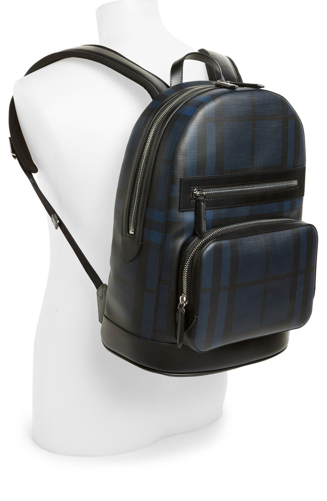 London Check Backpack,                             Alternate thumbnail 4, color,                             410