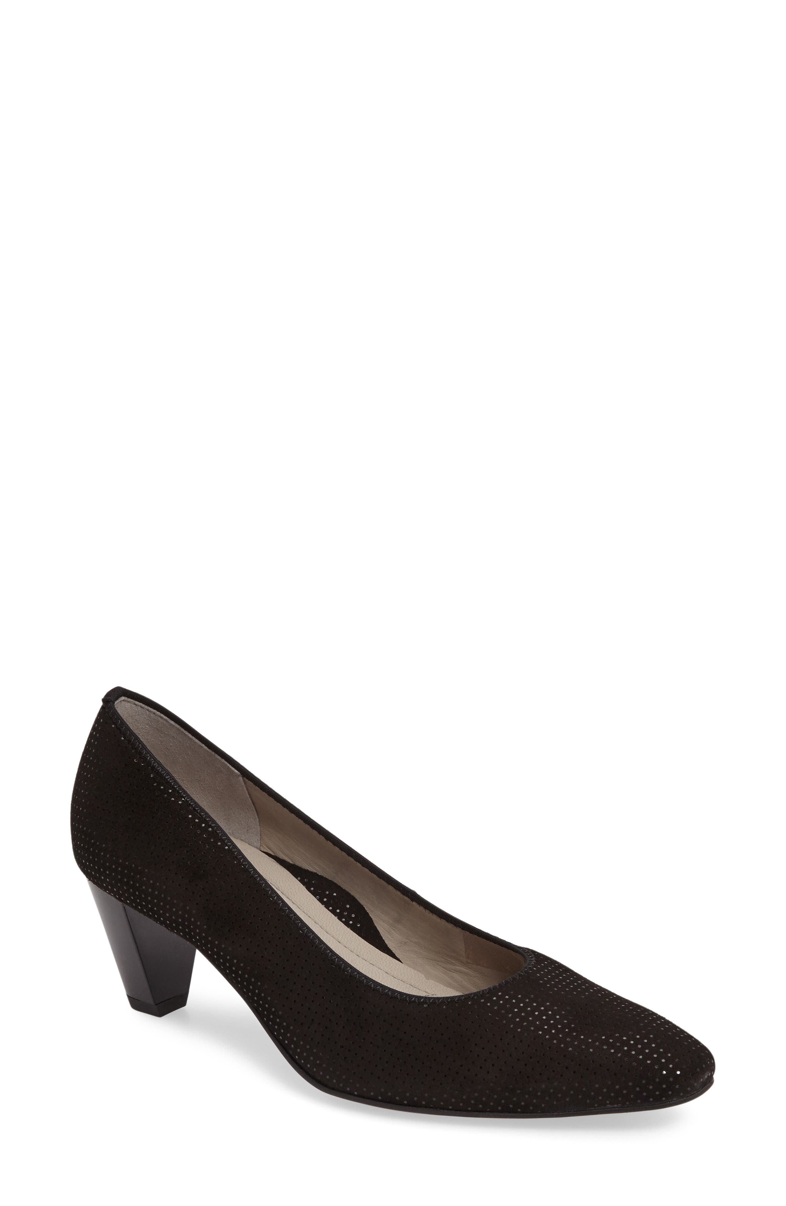 Paulina Pump,                         Main,                         color, BLACK LEATHER
