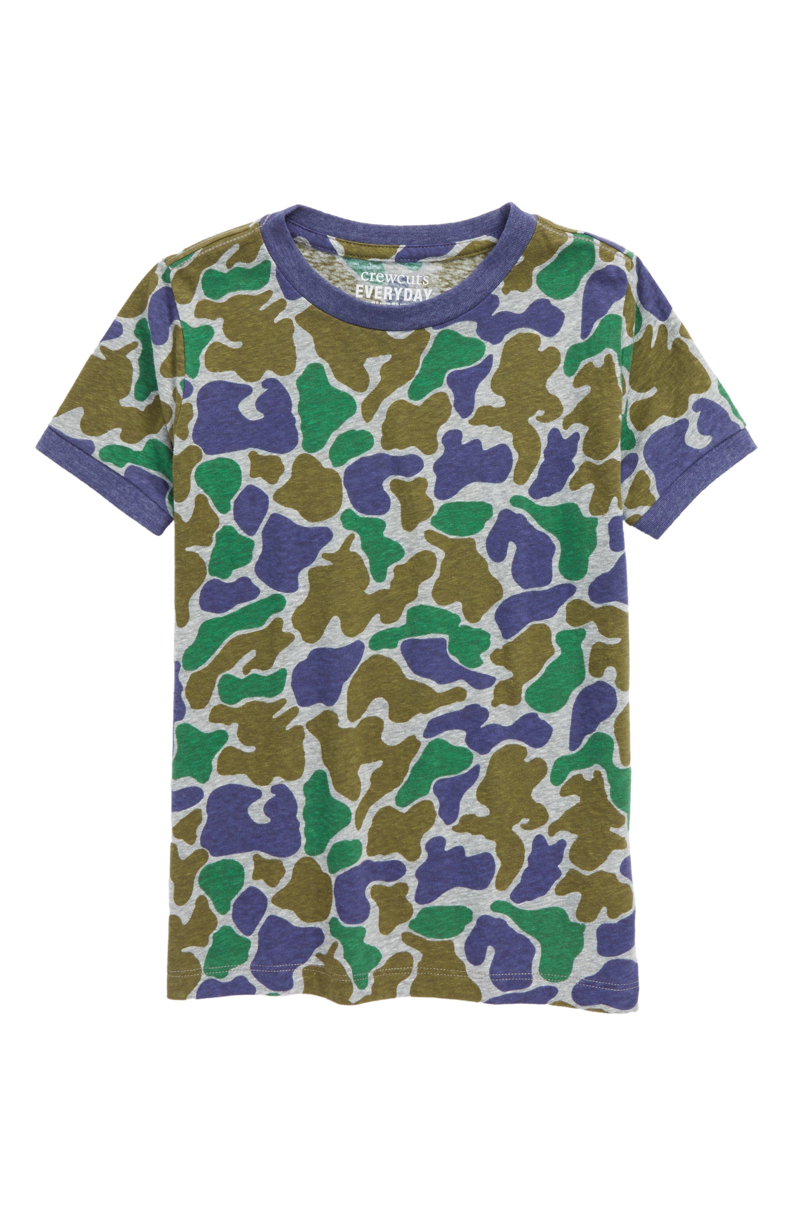 CREWCUTS BY J.CREW Camo T-Shirt, Main, color, 020