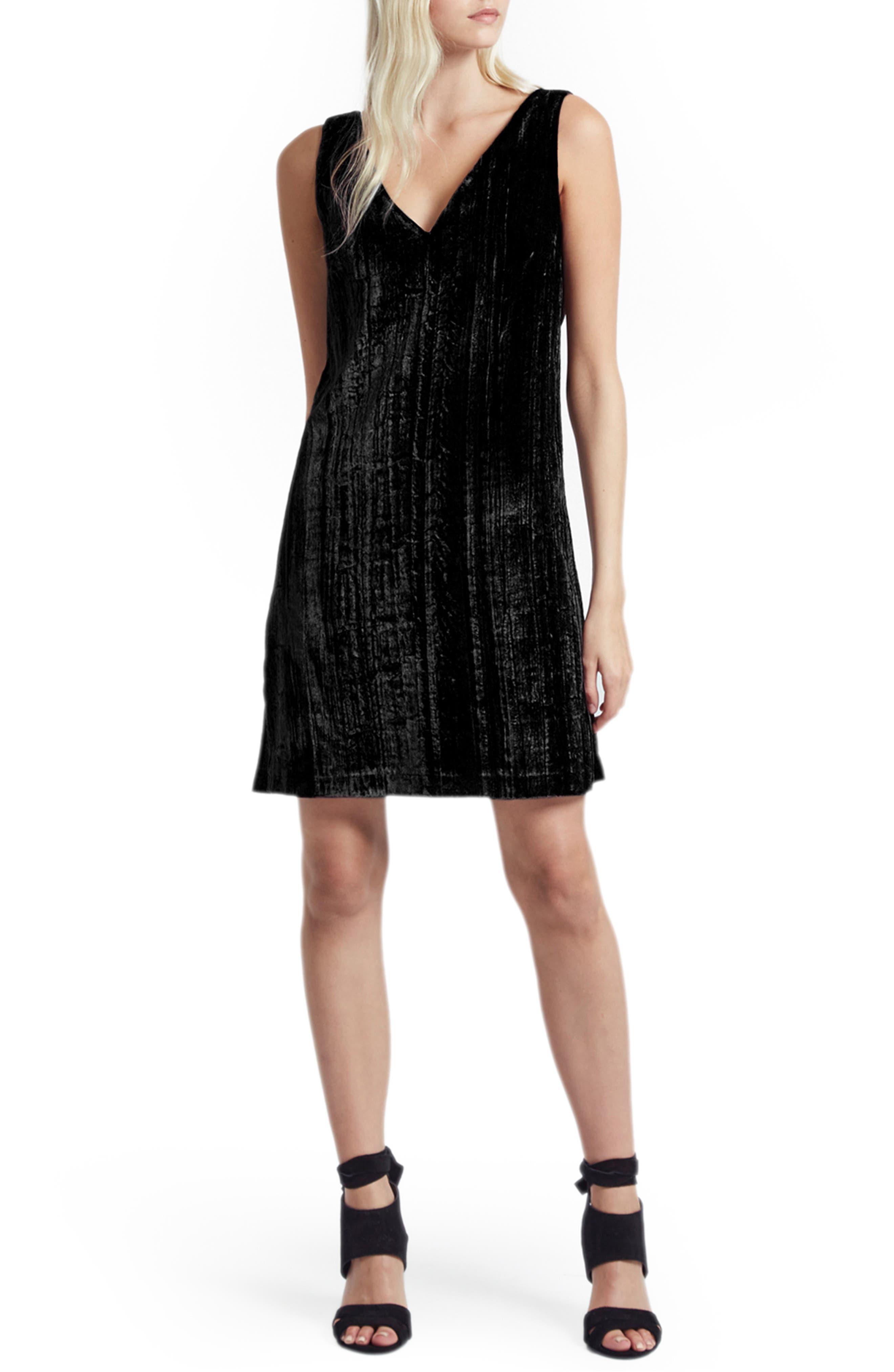 Theresa Velvet Shift Dress,                         Main,                         color,