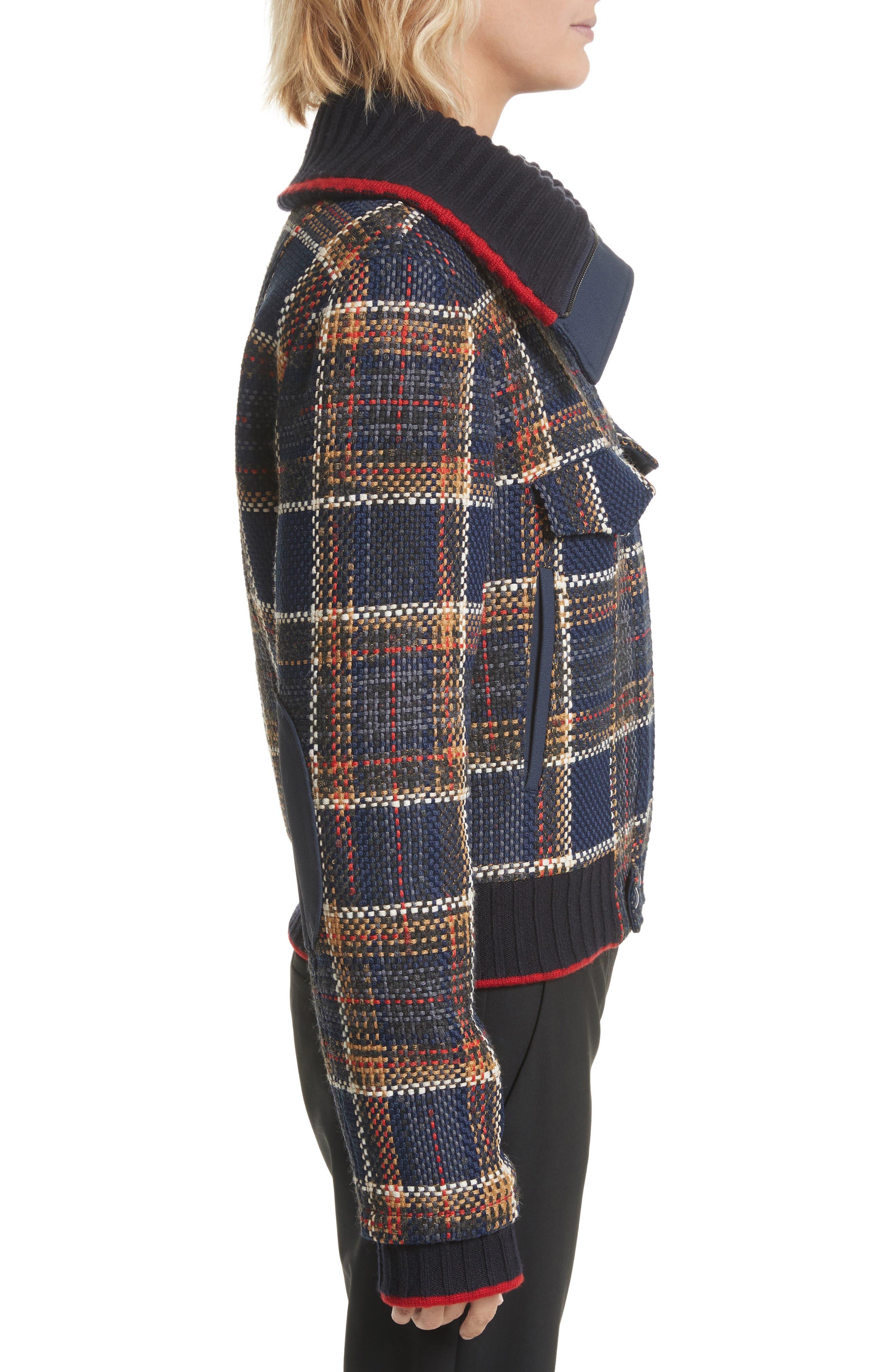 Crop Tweed Jacket,                             Alternate thumbnail 3, color,                             493