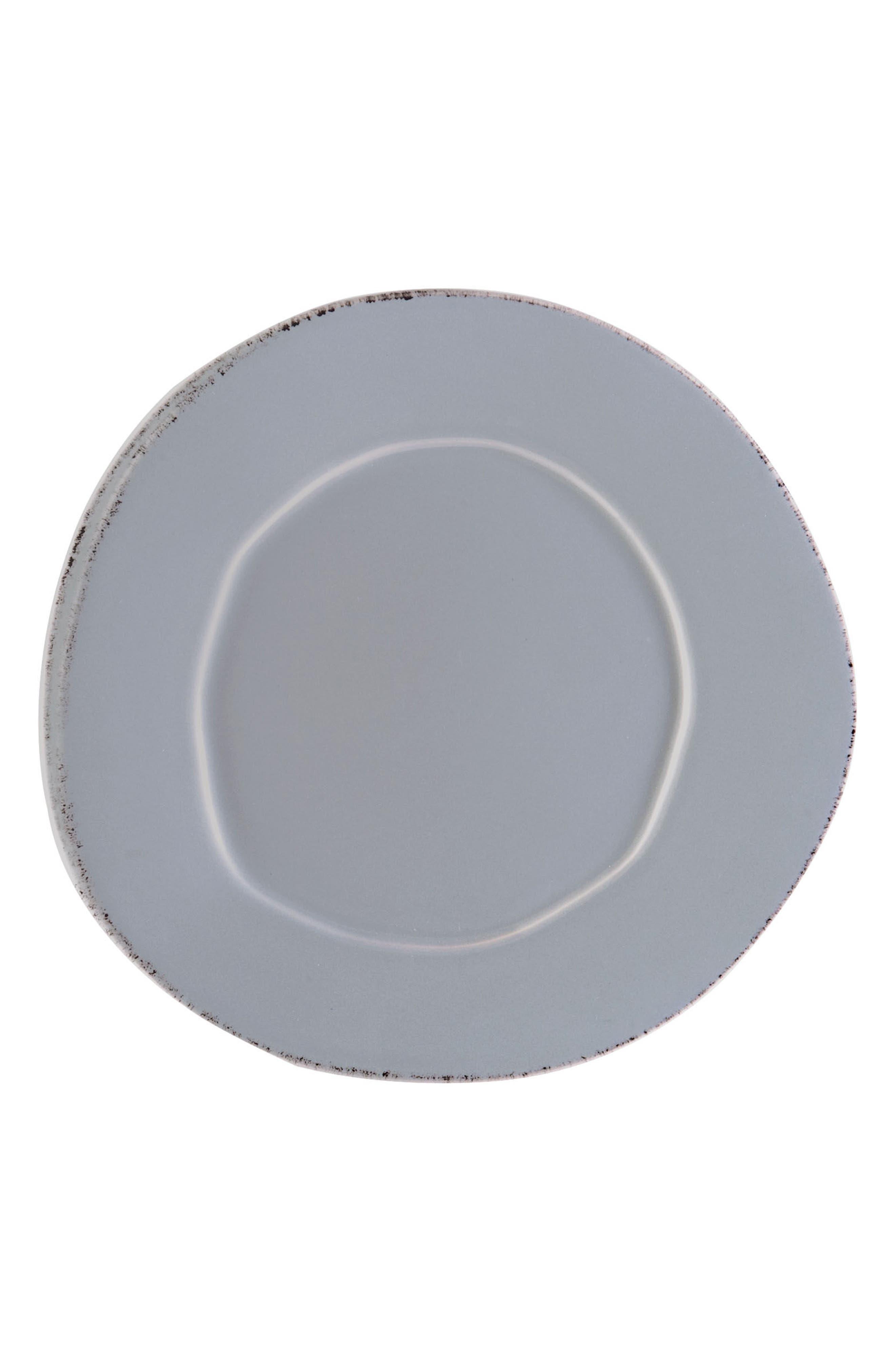 Lastra Stoneware Salad Plate,                             Main thumbnail 1, color,                             GRAY