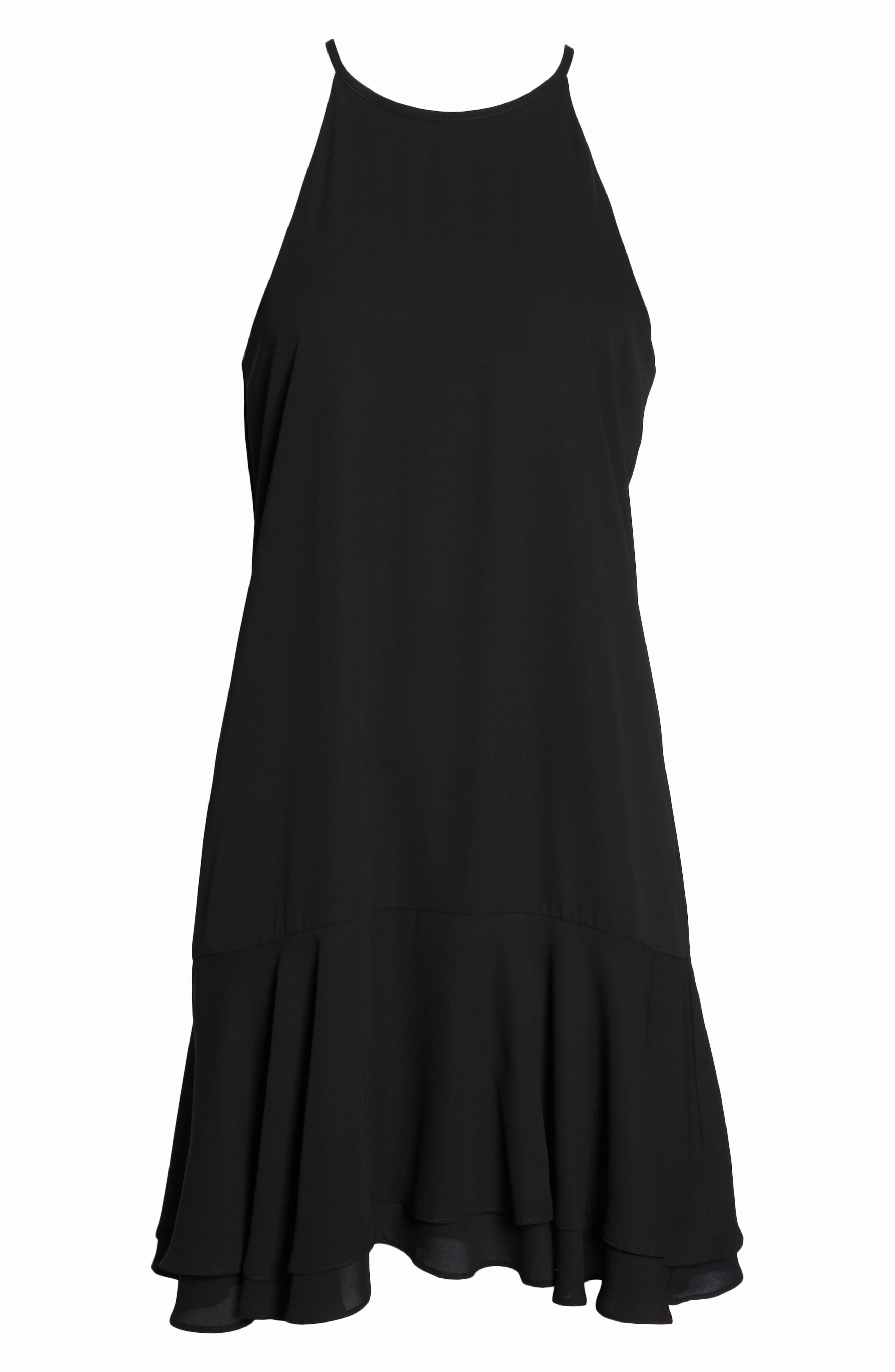 Tiered Shift Dress,                             Alternate thumbnail 7, color,                             001