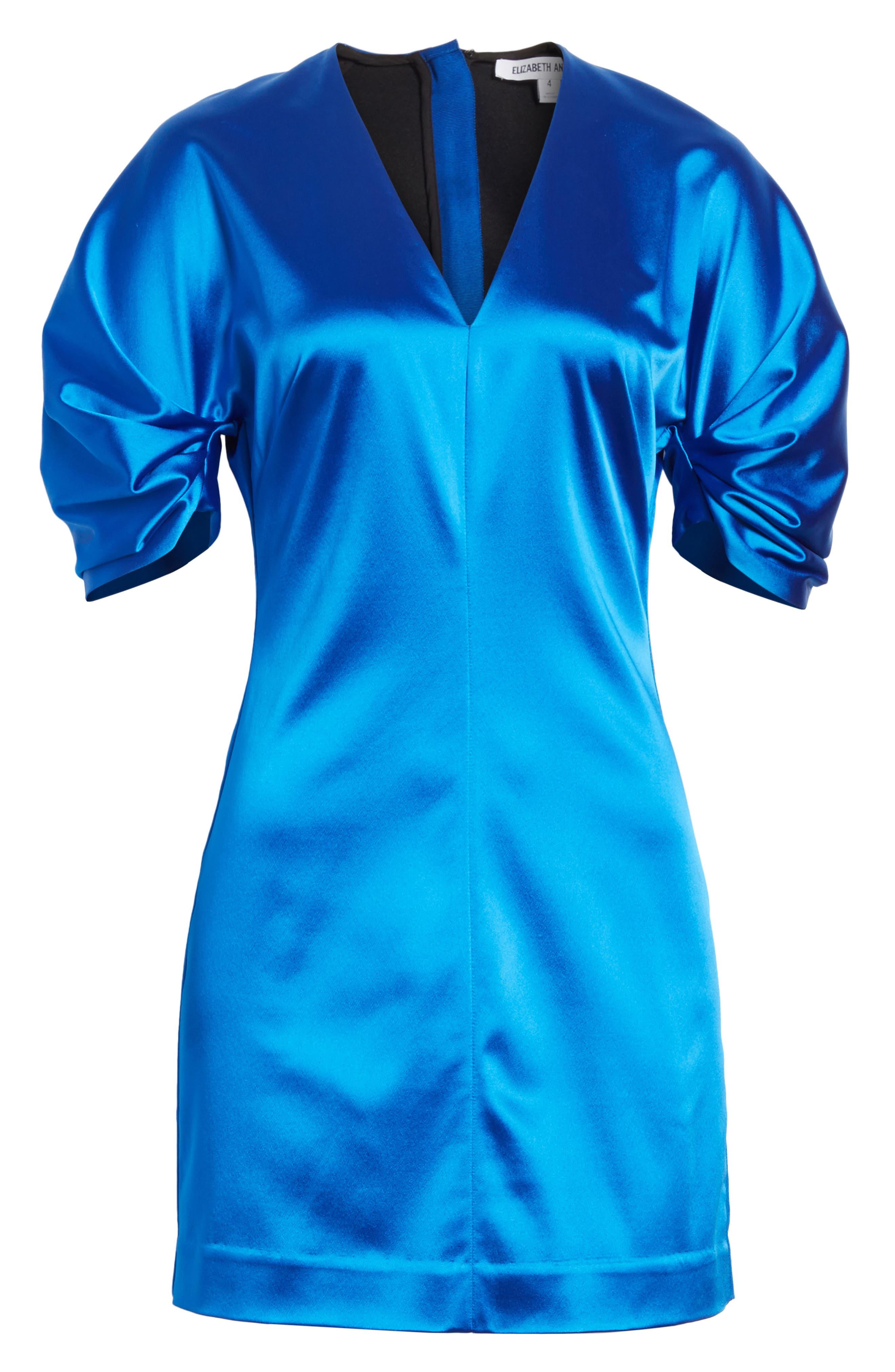 Sloan Duchess Satin Dress,                             Alternate thumbnail 6, color,                             435