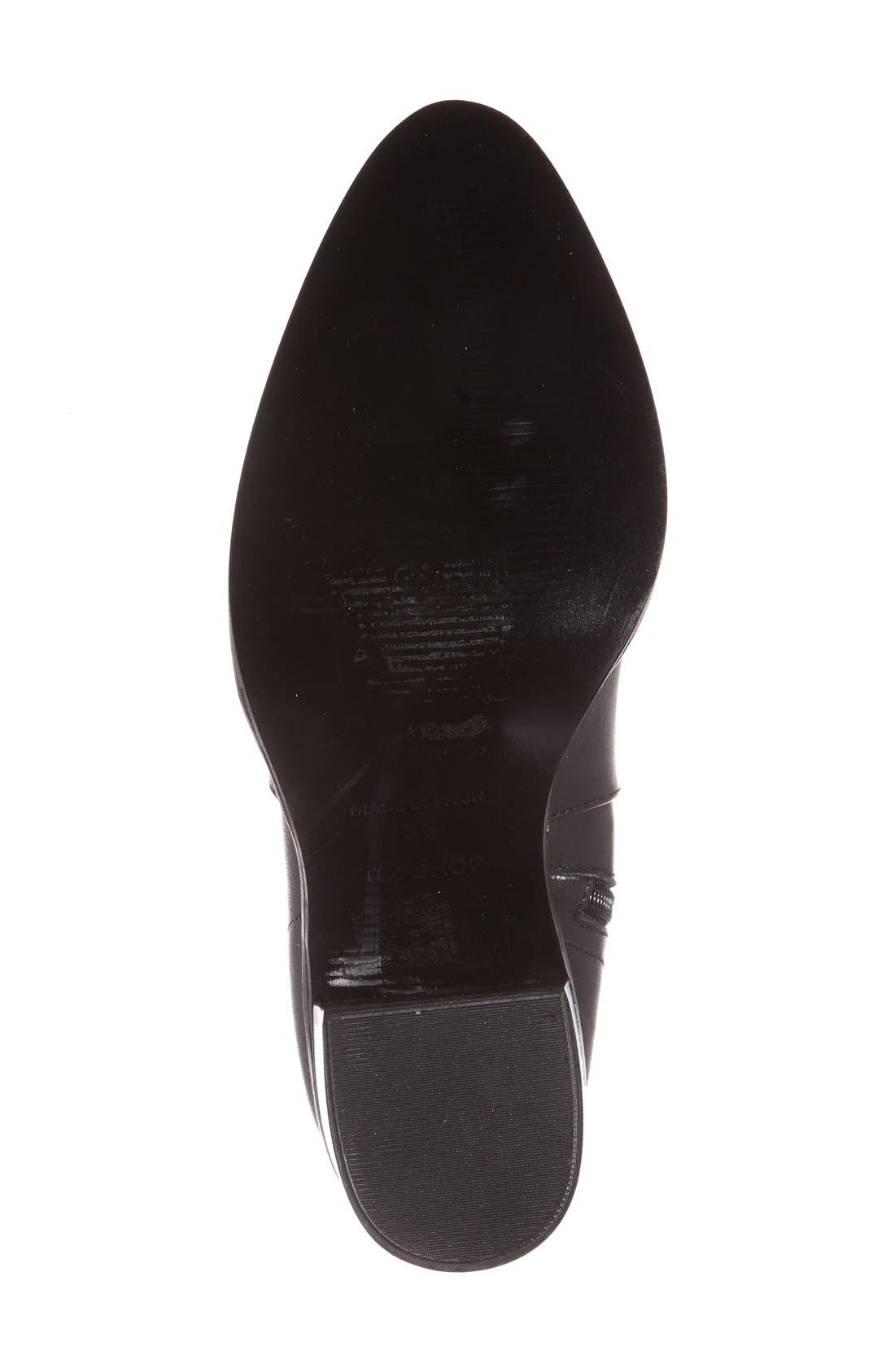 'Million' Pointy Toe Zip Boot,                             Alternate thumbnail 5, color,                             001