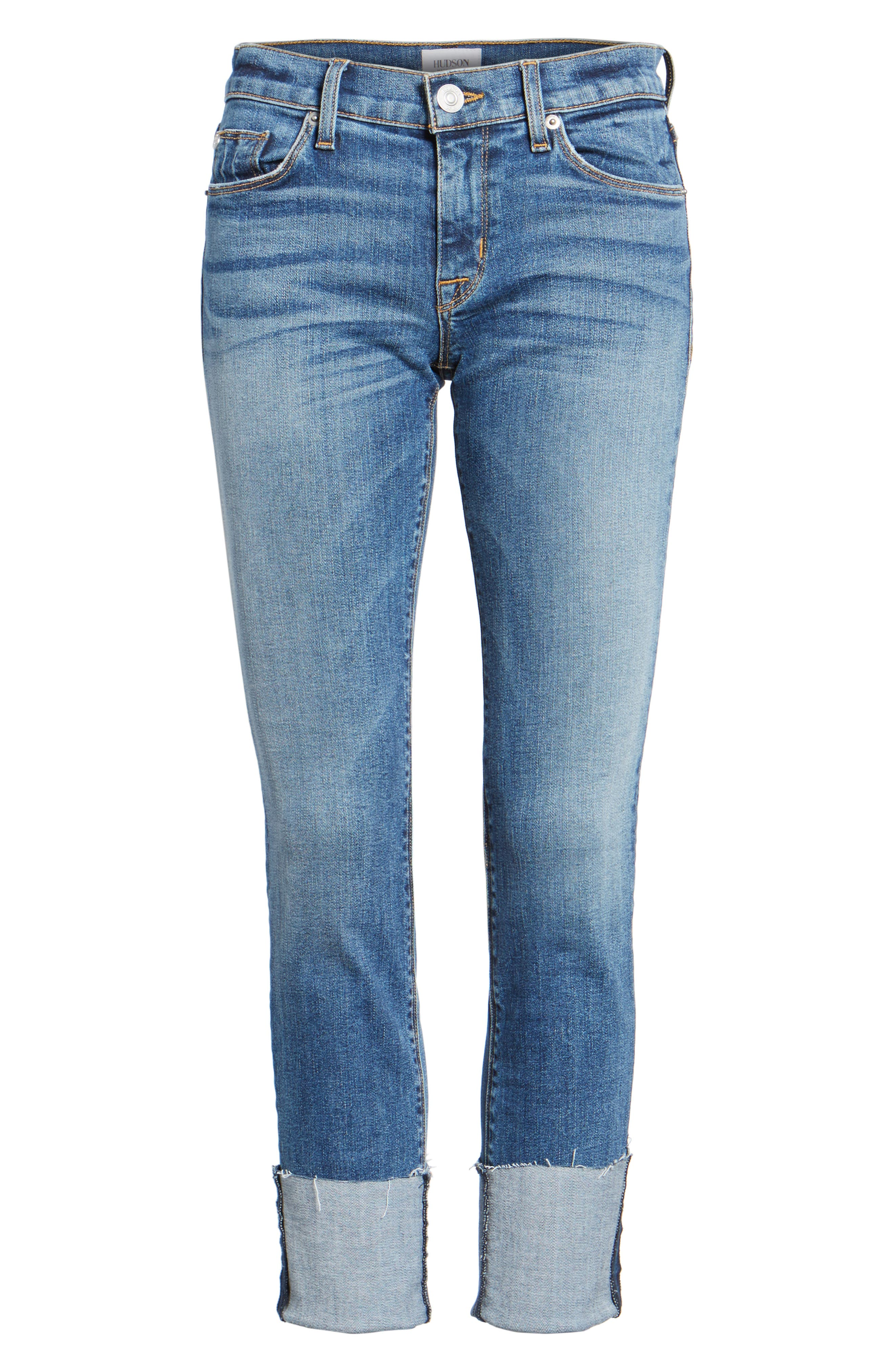 HUDSON JEANS,                             Tally Cuffed Crop Skinny Jeans,                             Alternate thumbnail 7, color,                             426