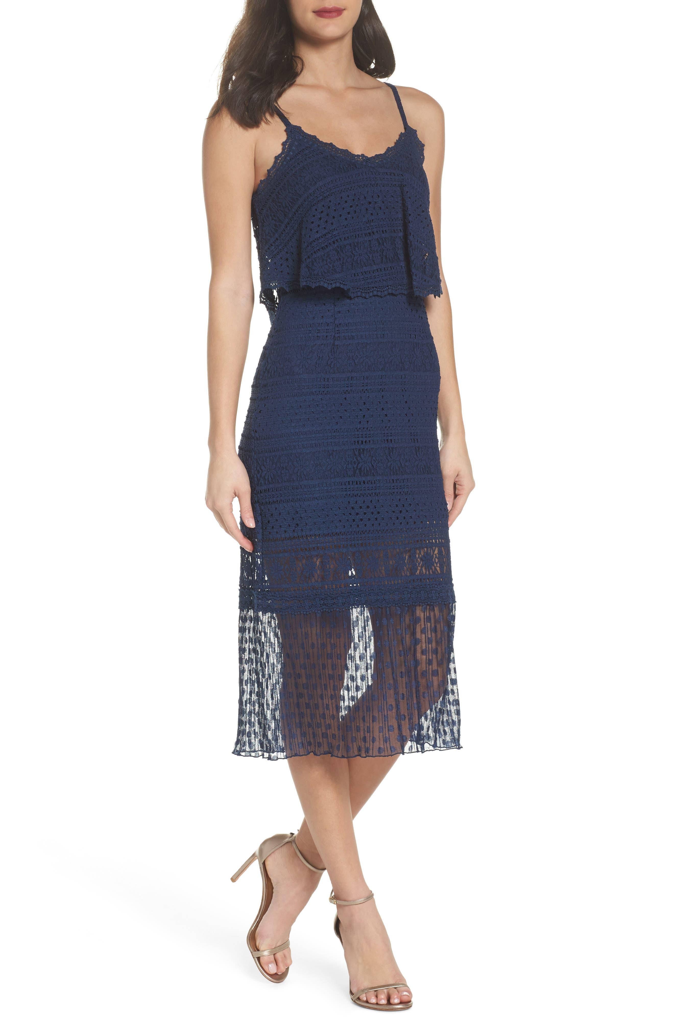 Ellie Lace Midi Dress,                         Main,                         color, 414
