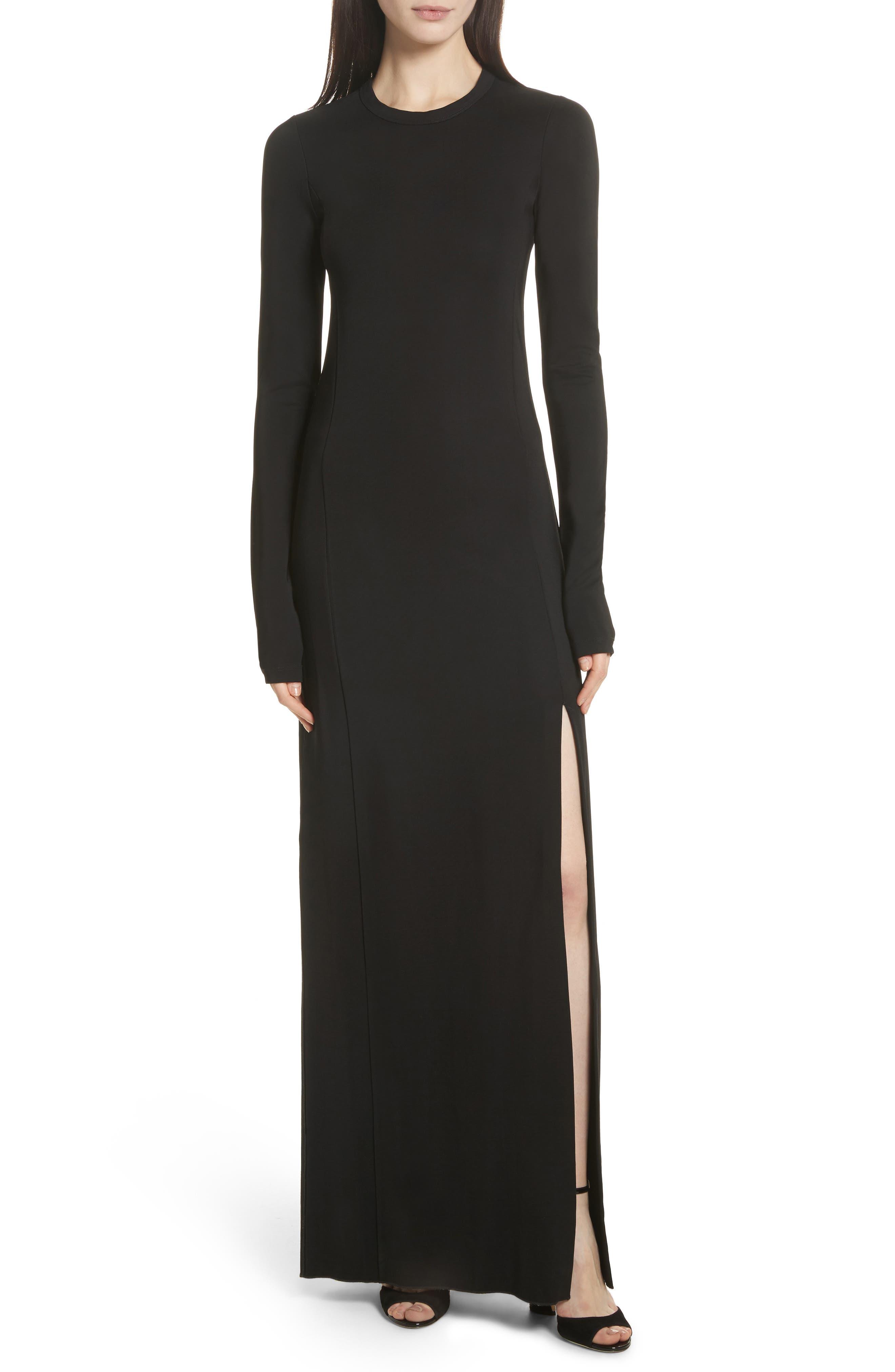 Fallon Slit Skirt Jersey Maxi Dress,                             Main thumbnail 1, color,                             001