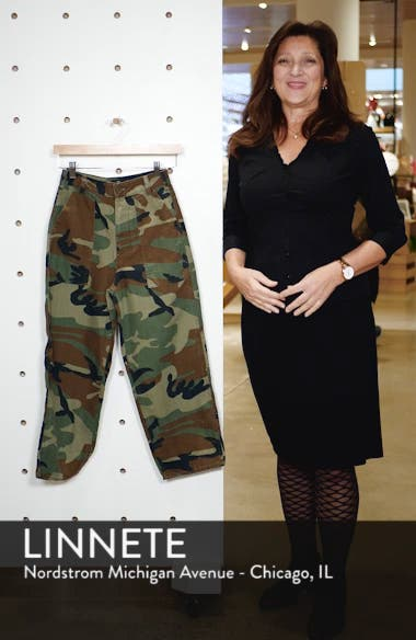 Benny Camo Crop Cotton Trousers, sales video thumbnail