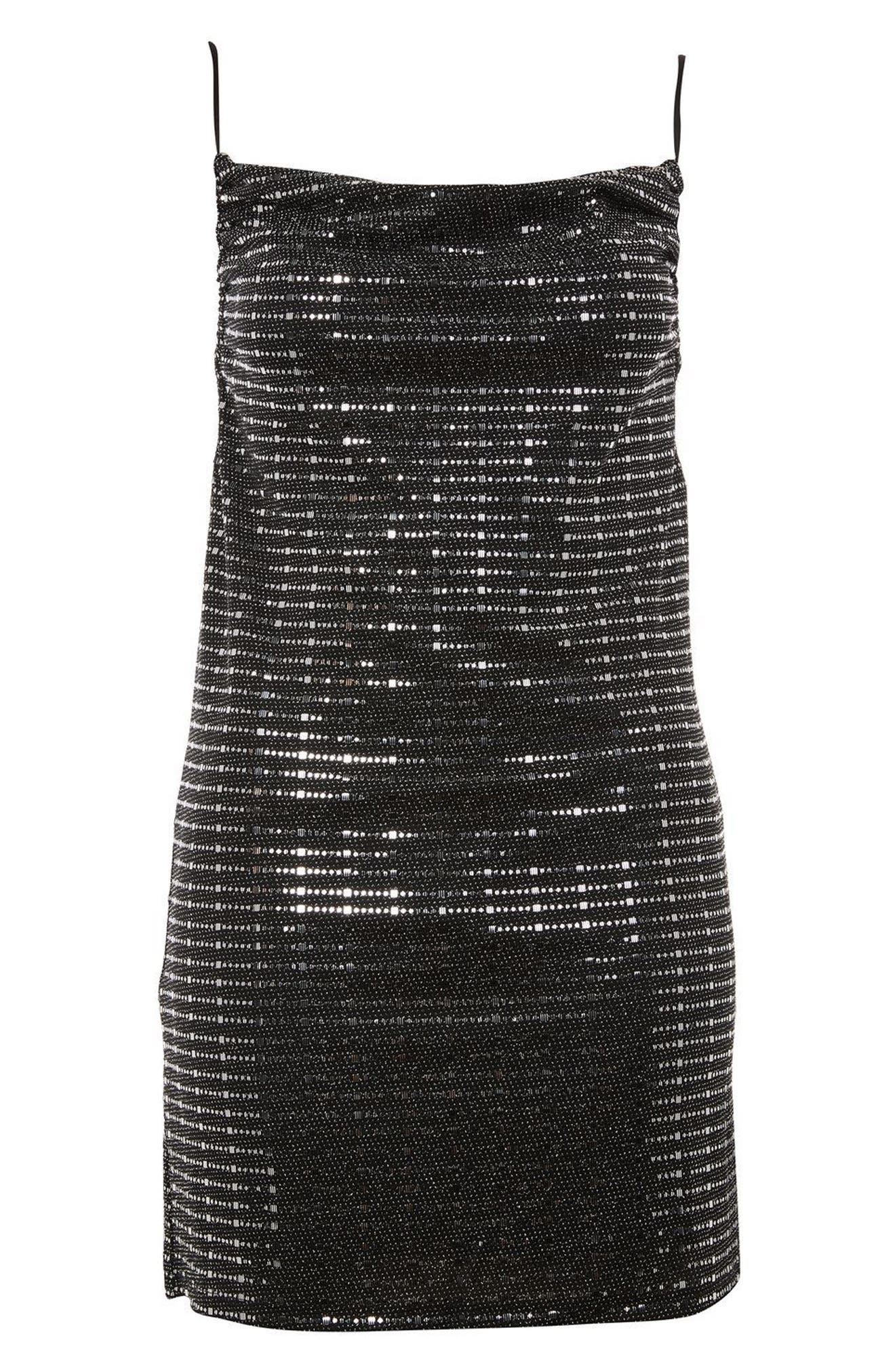 Disco Sequin Slipdress,                             Alternate thumbnail 3, color,