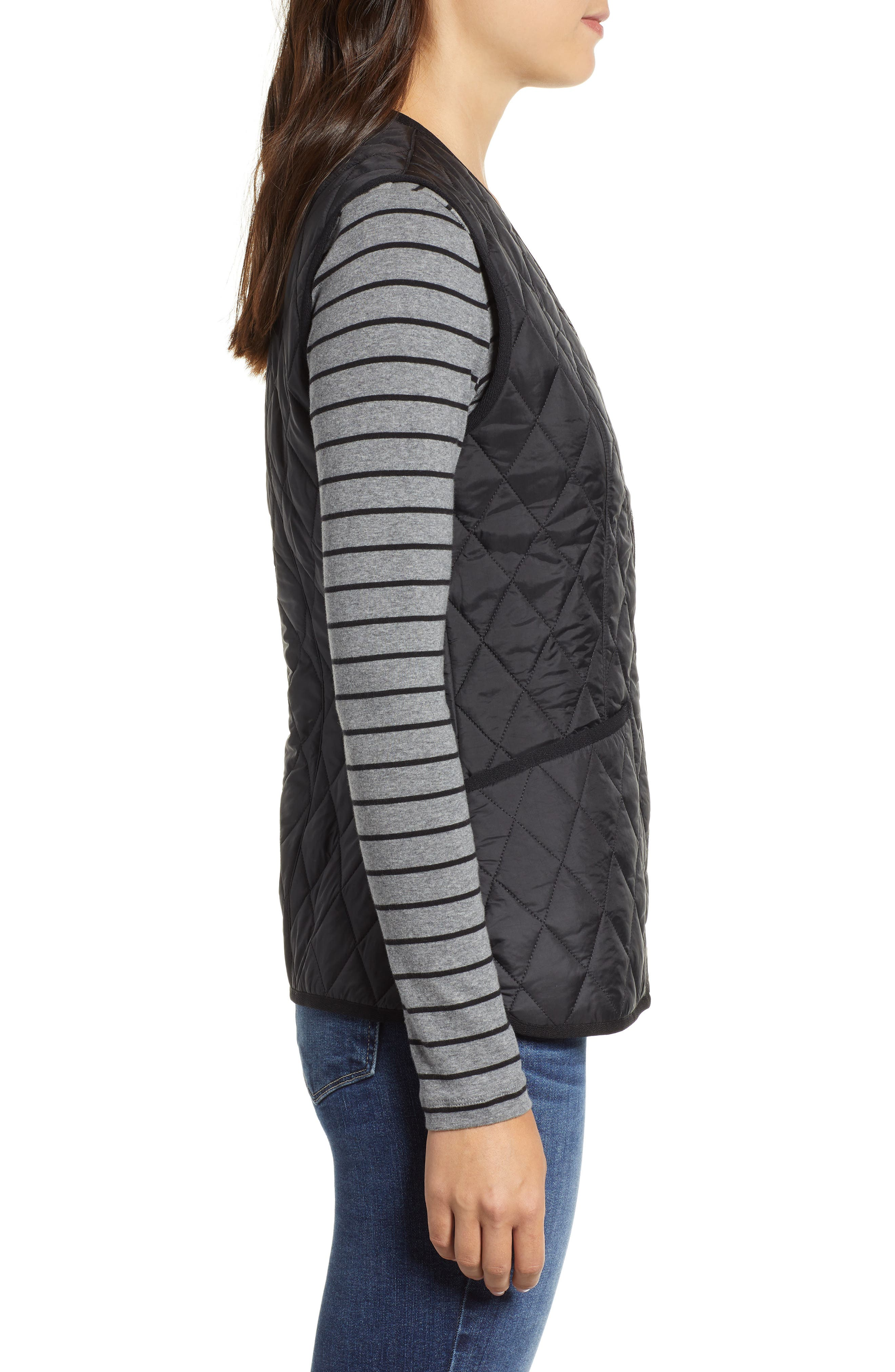 Betty Quilted Vest,                             Alternate thumbnail 3, color,                             001