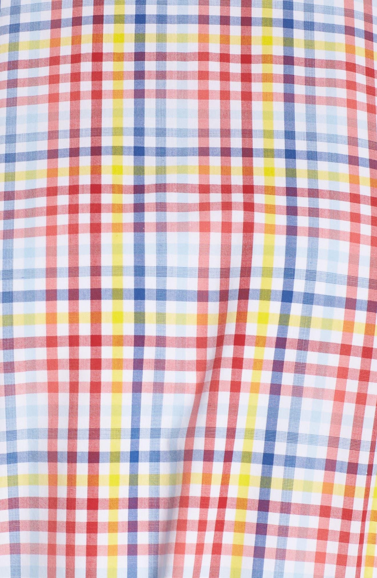 ELIZA J,                             Halter Neck Belted Cotton Sundress,                             Alternate thumbnail 6, color,                             610