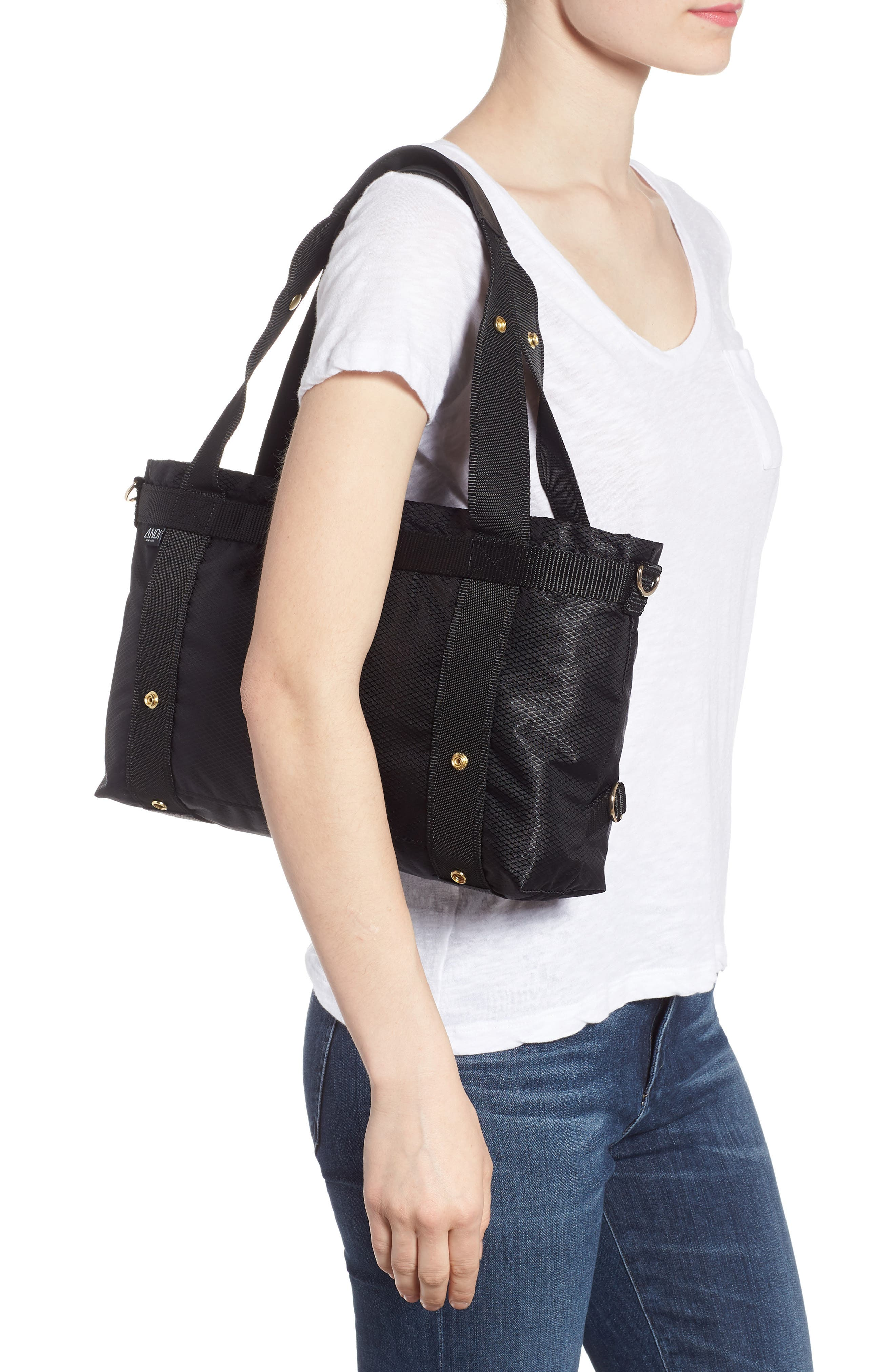The ANDI Small Convertible Tote,                             Alternate thumbnail 2, color,                             BLACK