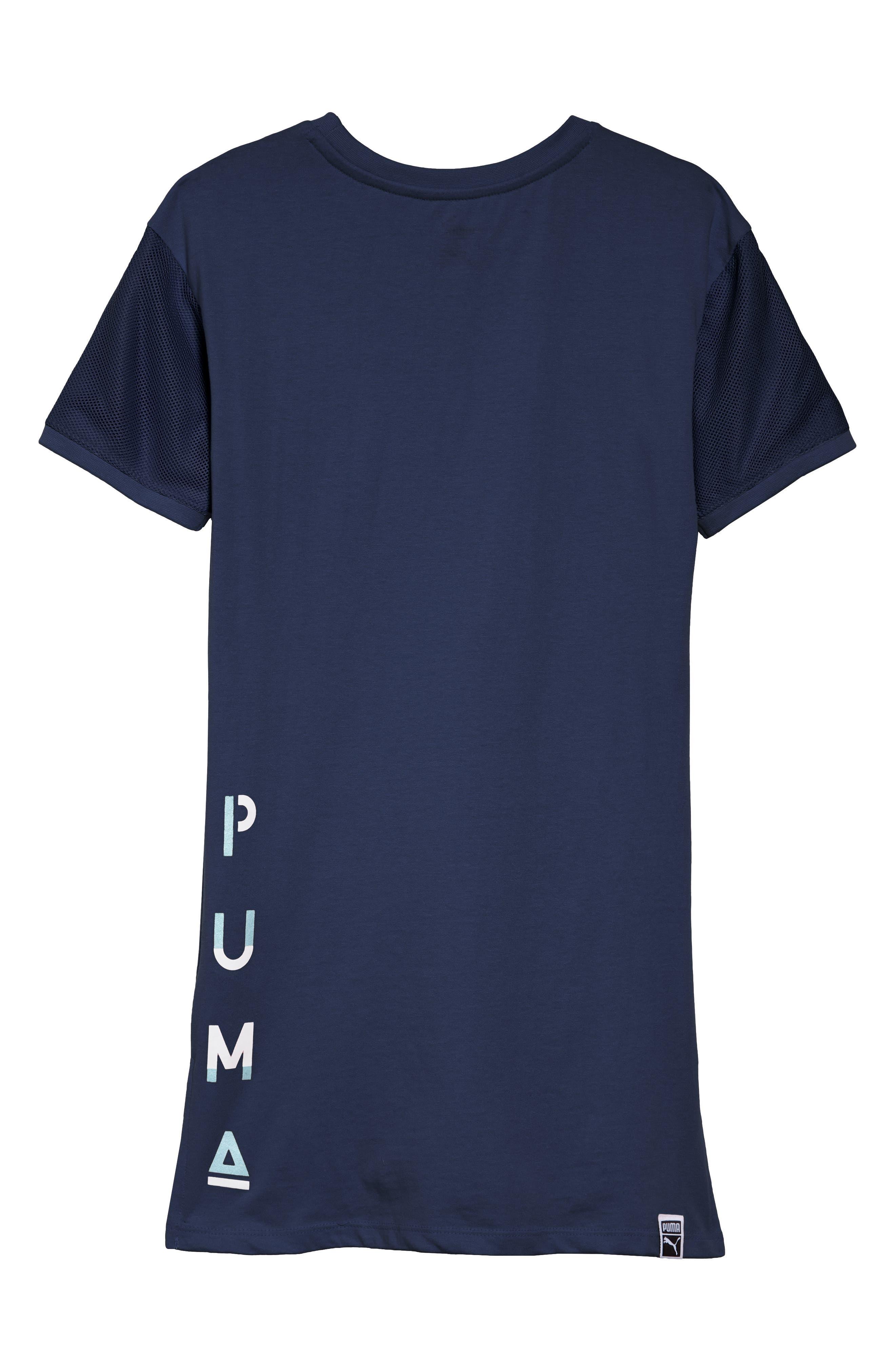 PUMA,                             Logo T-Shirt Dress,                             Alternate thumbnail 2, color,                             404
