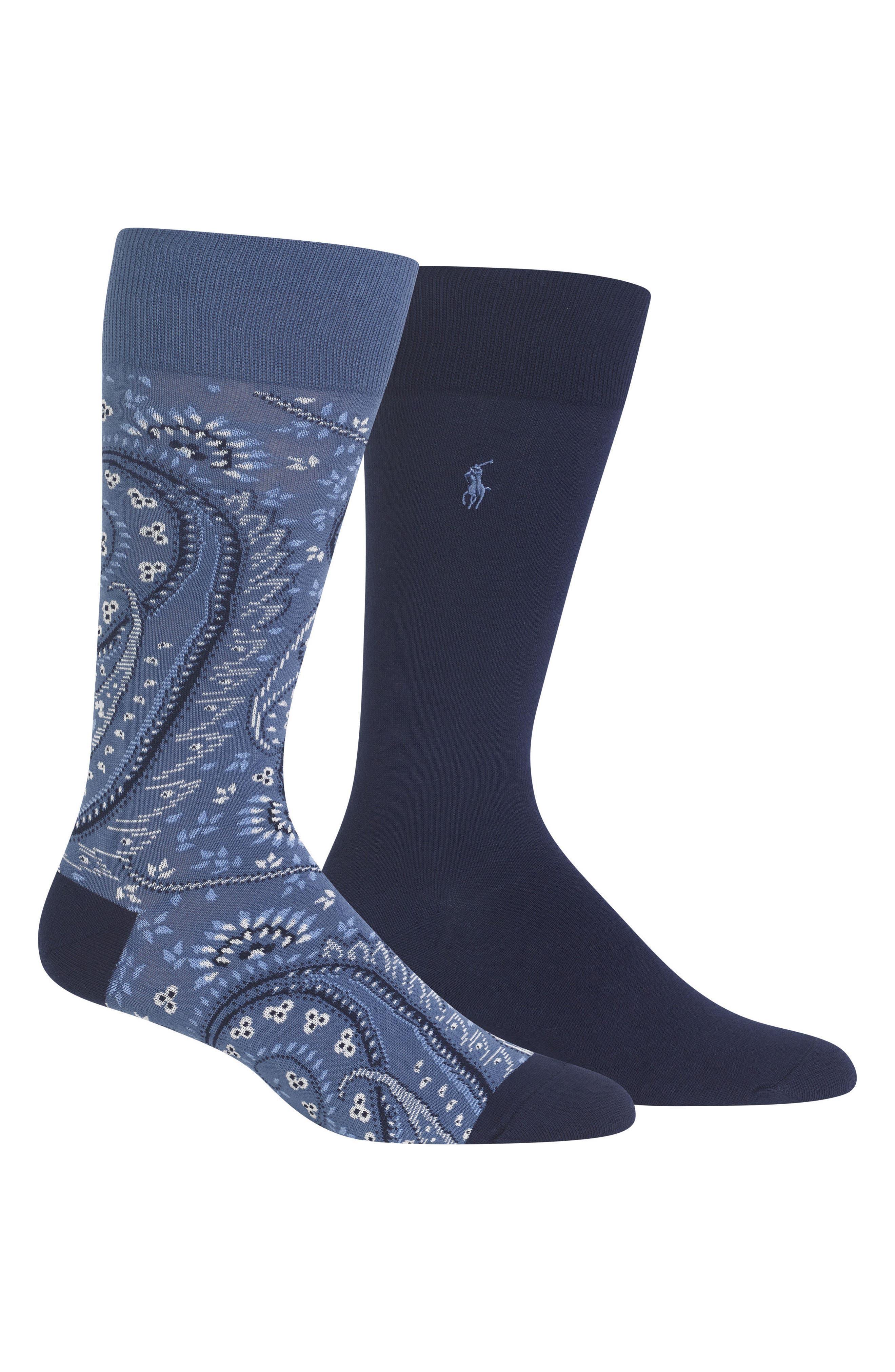 Ralph Lauren 2-Pack Socks,                             Main thumbnail 1, color,                             460