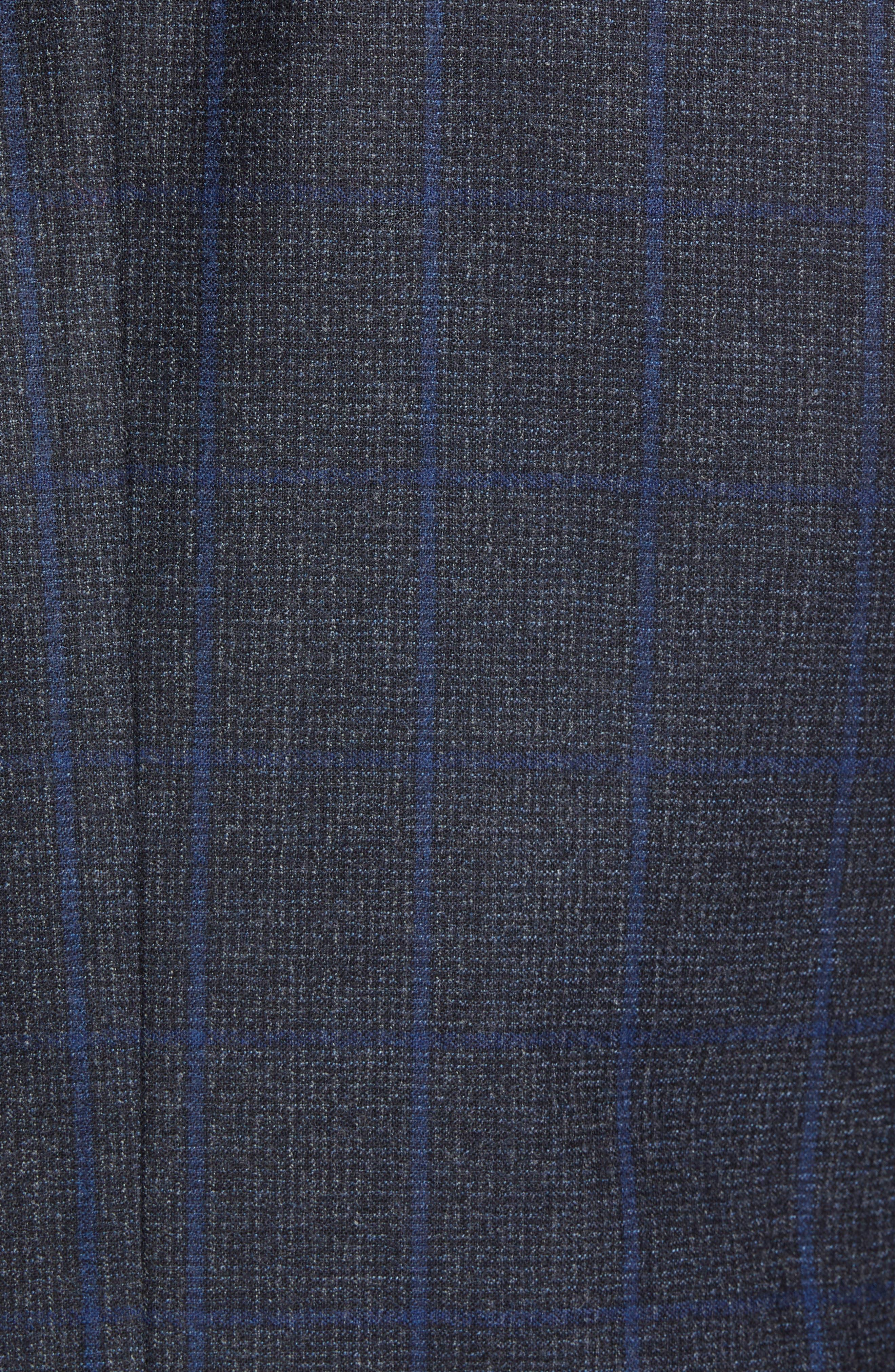 Tucker Trim Fit Windowpane Wool Sport Coat,                             Alternate thumbnail 6, color,                             BLUE