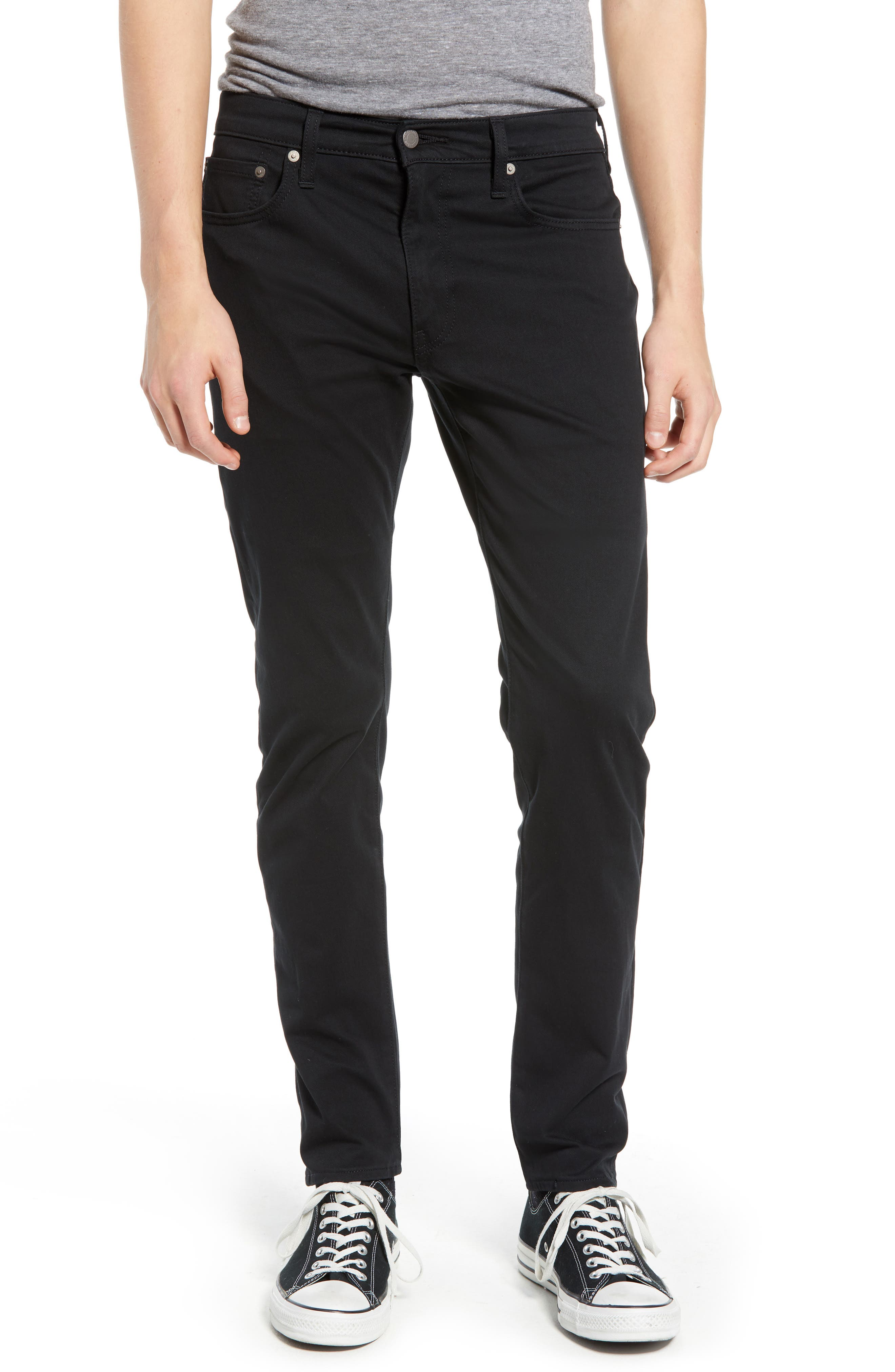 512<sup>™</sup> Slouchy Skinny Fit Twill Pants,                             Main thumbnail 1, color,                             BLACK WONDER KNIT TWILL